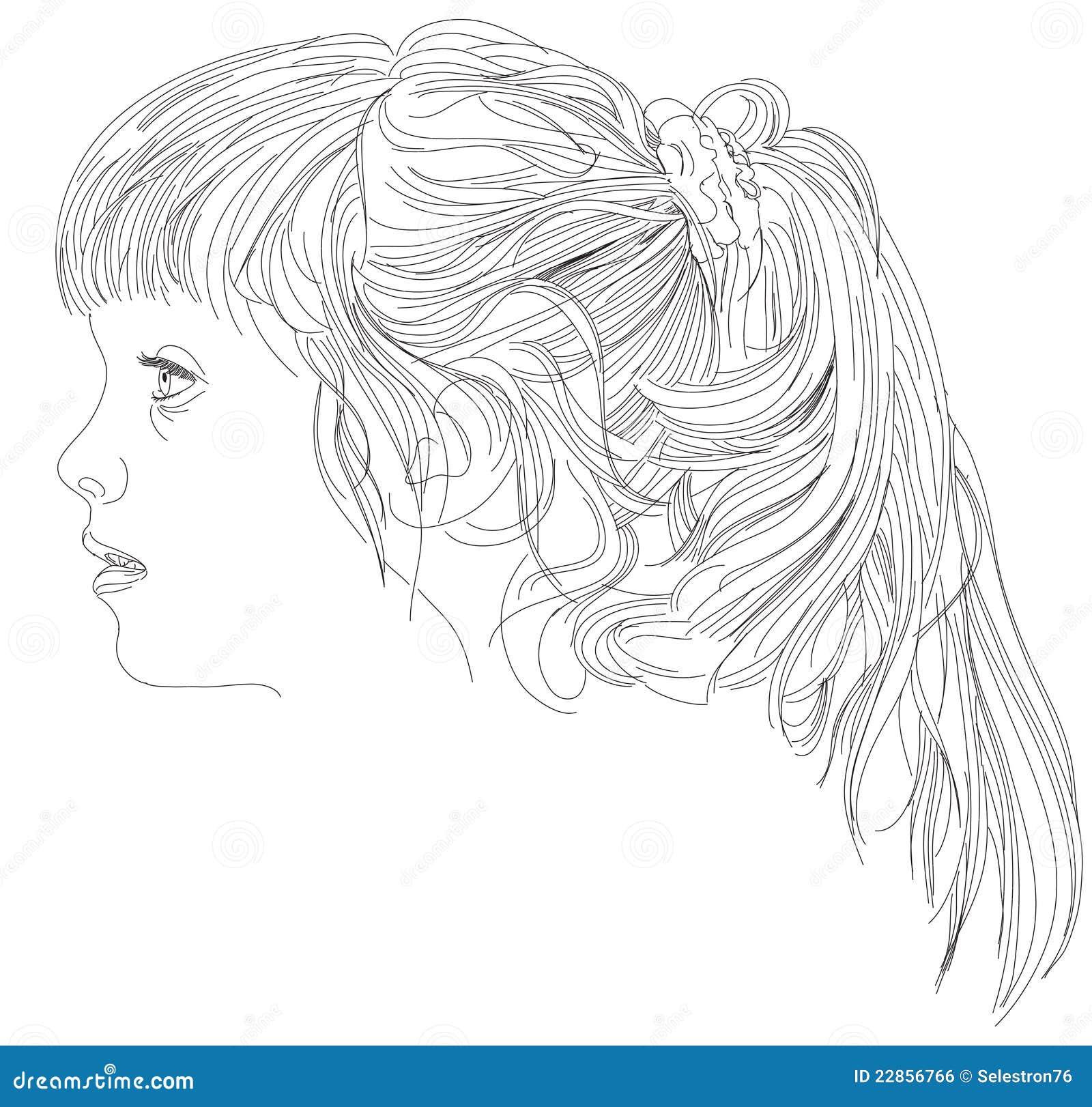de mooie meisjes zien onder ogen vector illustratie