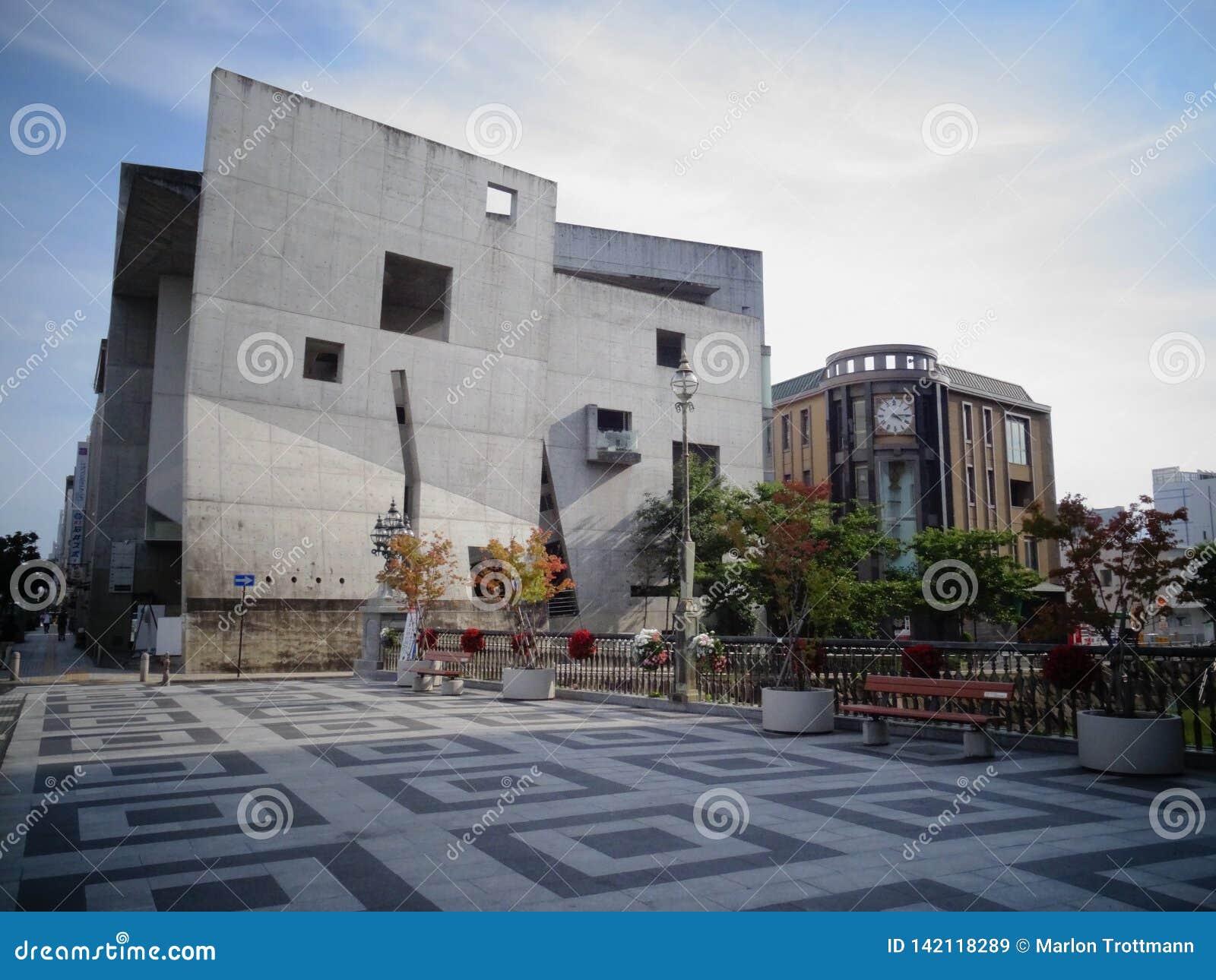 De mooie moderne bouw van Matsumono-stad, Japan