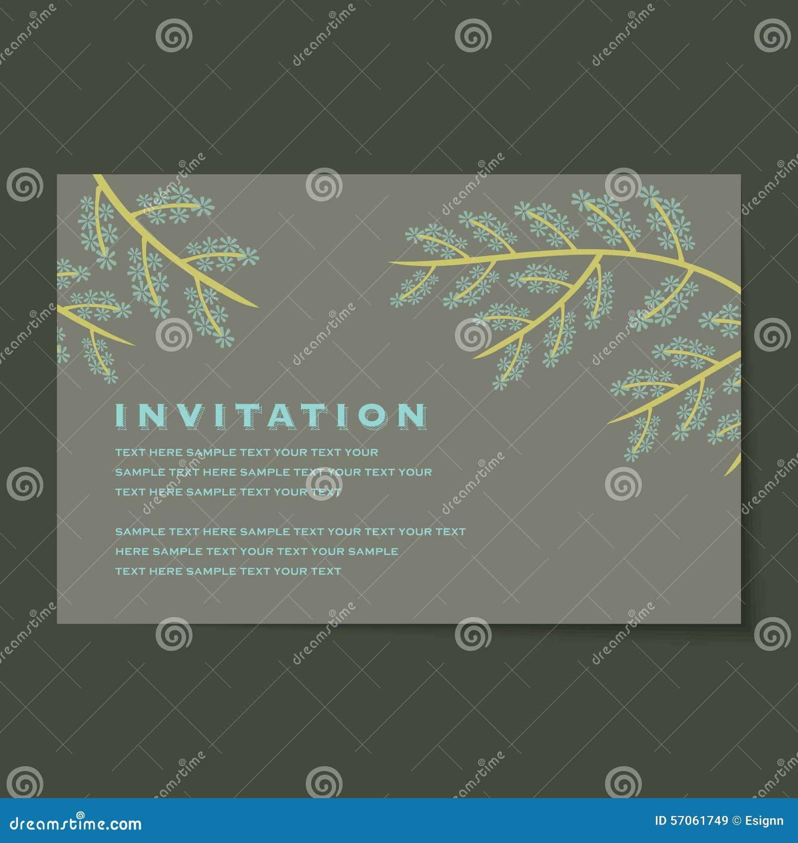 De mooie uitstekende lay-out van uitnodigingskaarten
