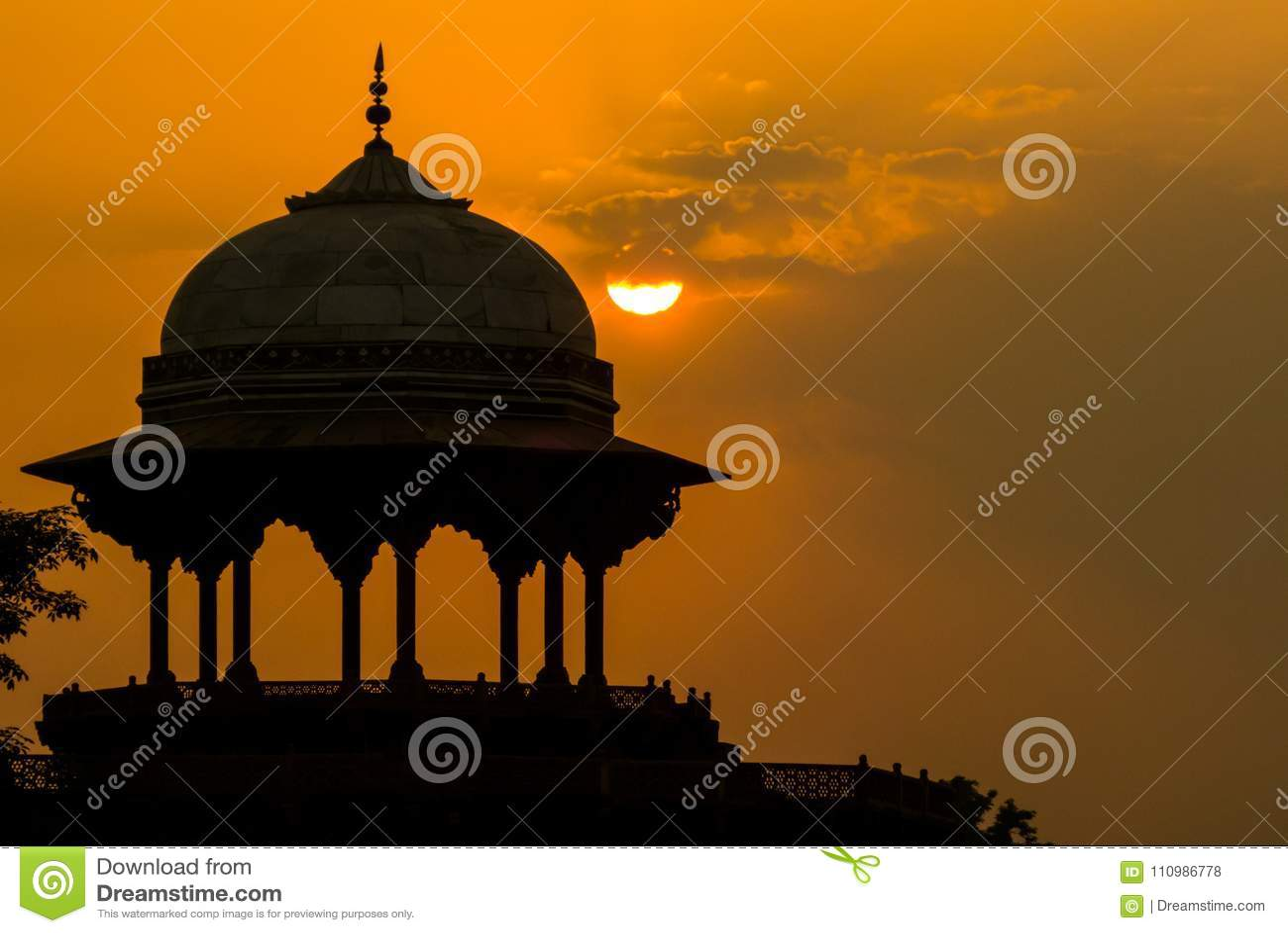 De moskee Kau Ban dichtbij Taj Mahal
