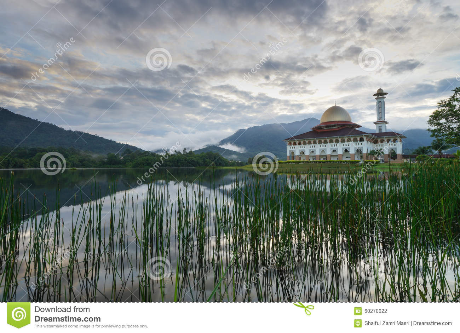 De moskee van Darulquran in Selangor
