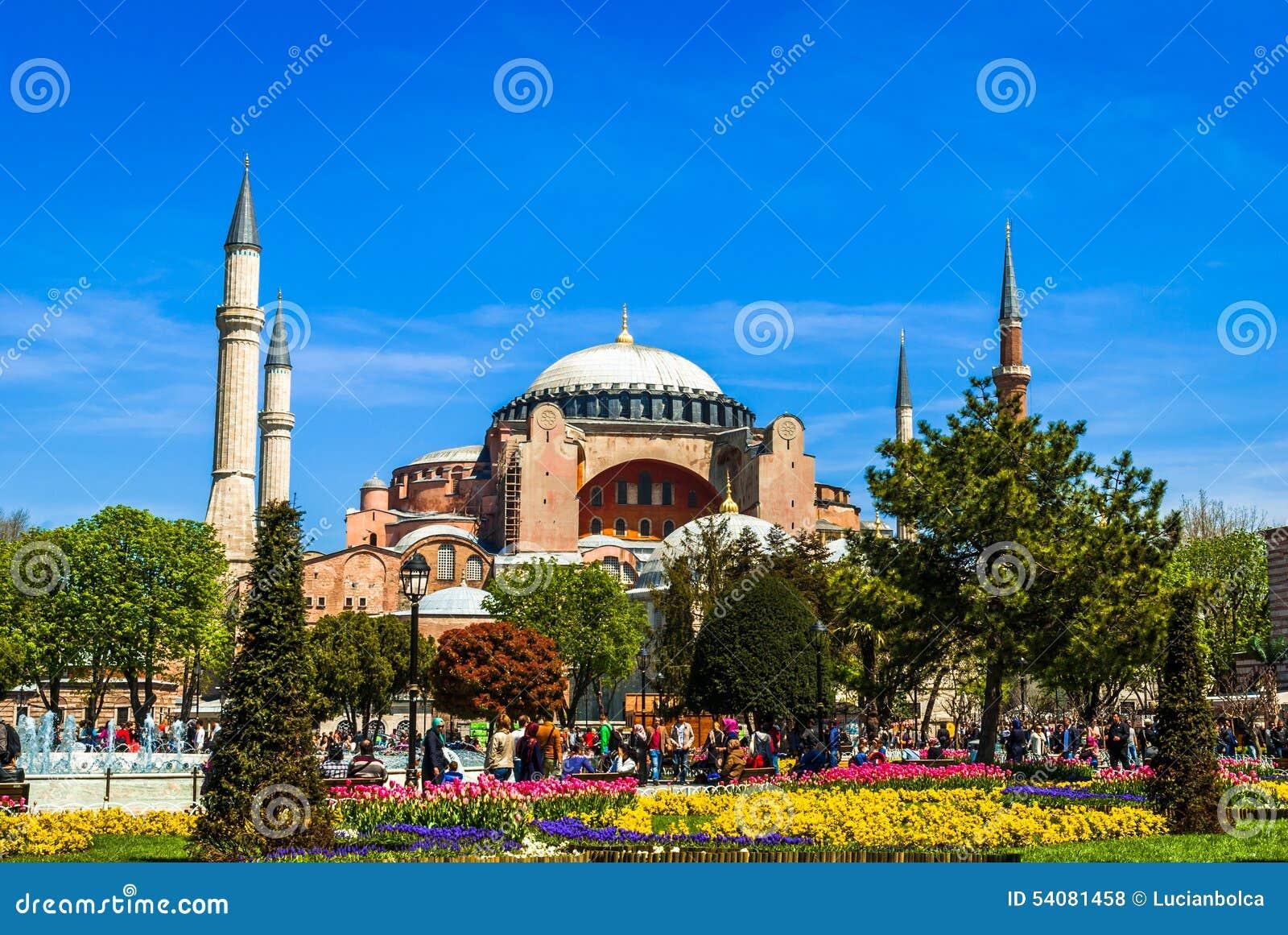 De moskee van Hagiasophia in Sultanahmet-Vierkant, Istanboel, Turkije