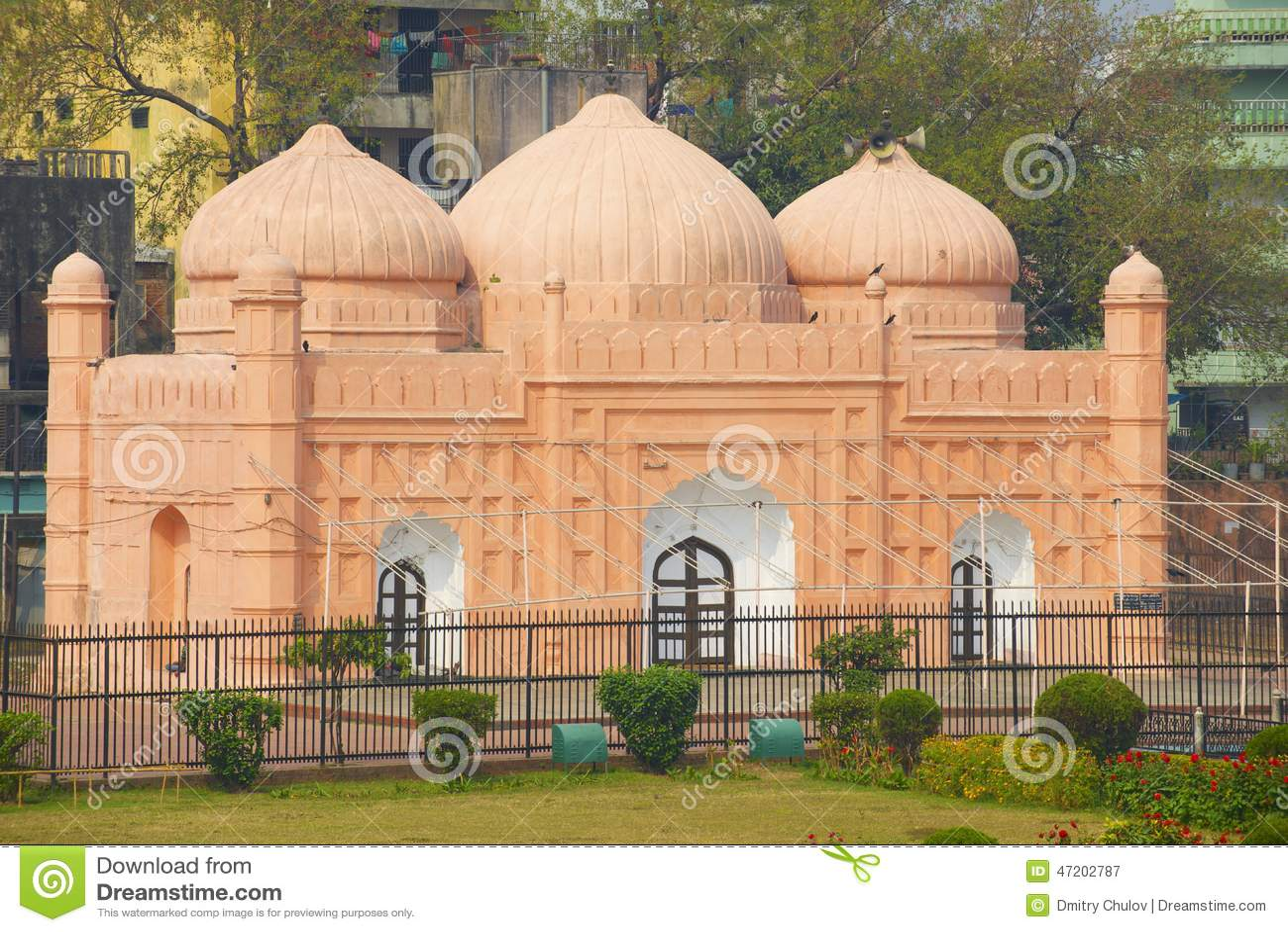 De Moskee van het Lalbaghfort, Dhaka, Bangladesh