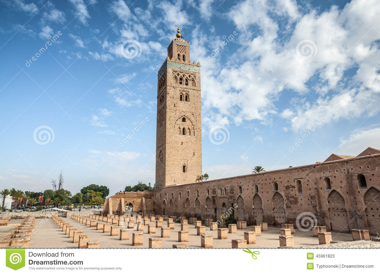 De Moskee Van Koutoubia In Marrakech Redactionele Stock Foto Image Of Oosters Marokko 45961823
