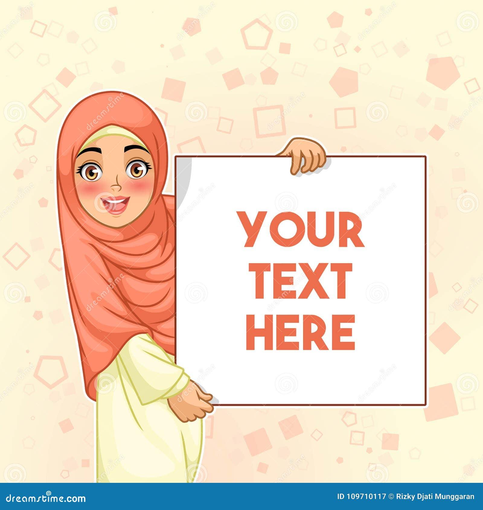 De moslim lege raad van de vrouwen glimlachende holding