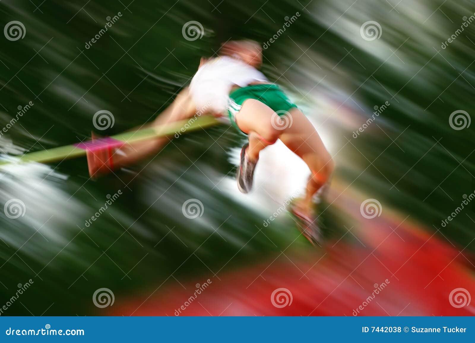 De motieonduidelijk beeld van hoogspringen