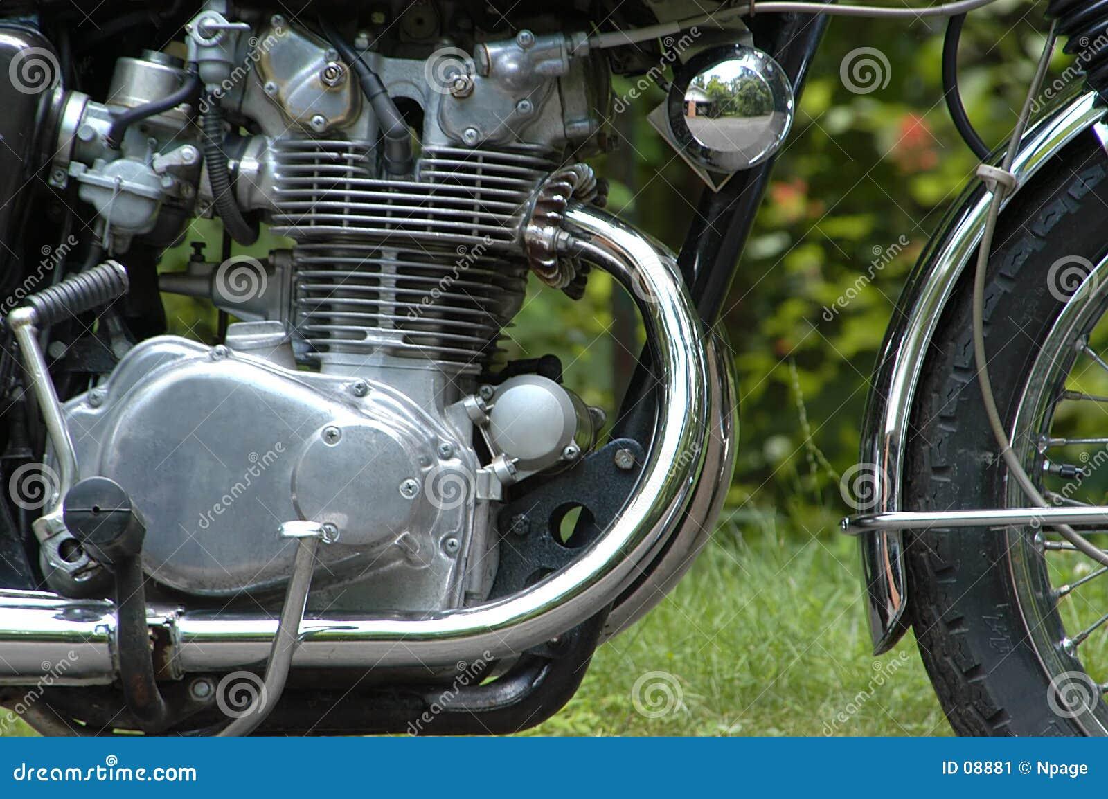 De Motor van de motorfiets
