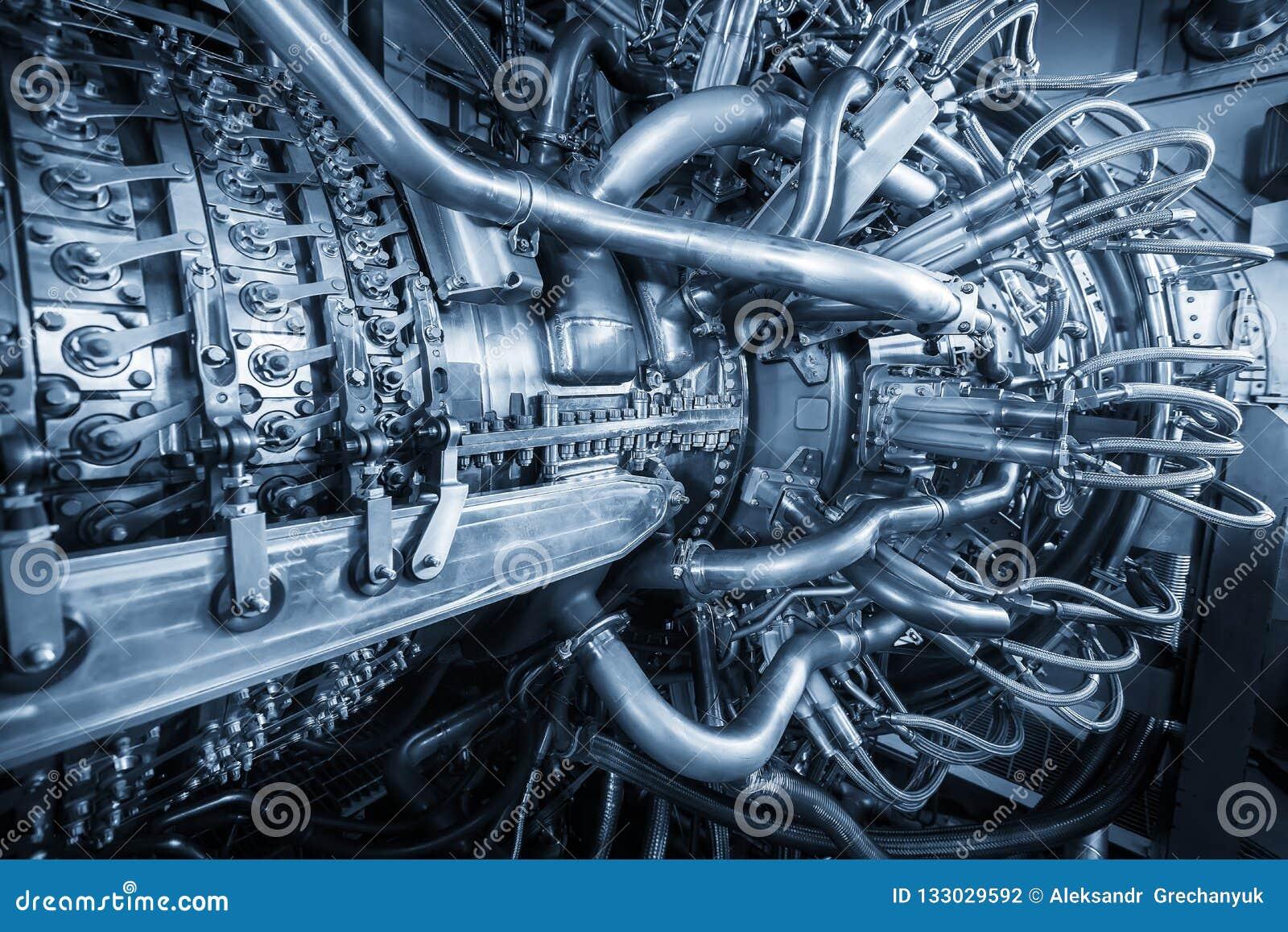 De motor van de gasturbine van de compressor van het voergas bepaalde de plaats binnen van onder druk gezette die bijlage, de mot