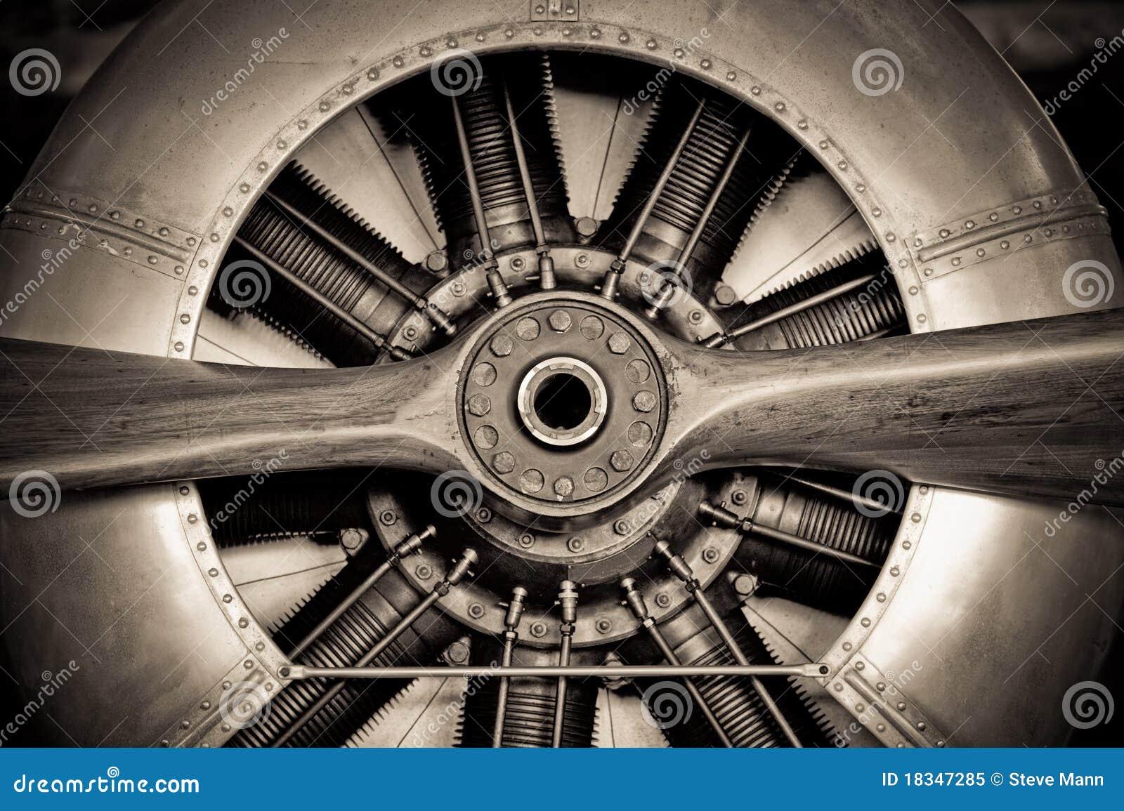 De motor van vliegtuigen