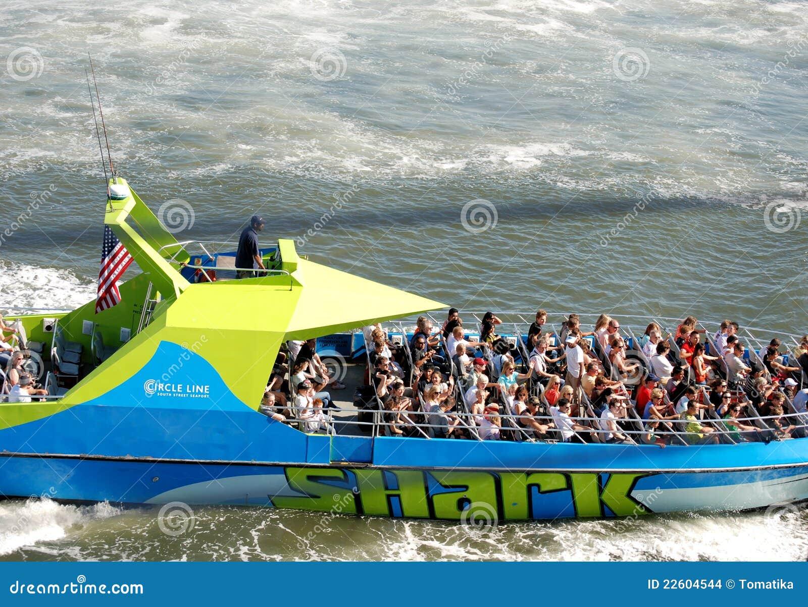 De motorboot van de Haai