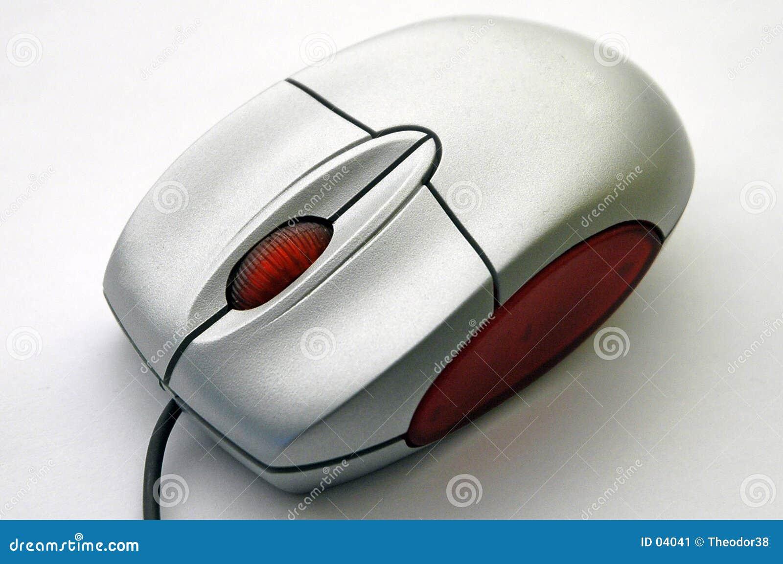 De muis van de computer van diagonale mening