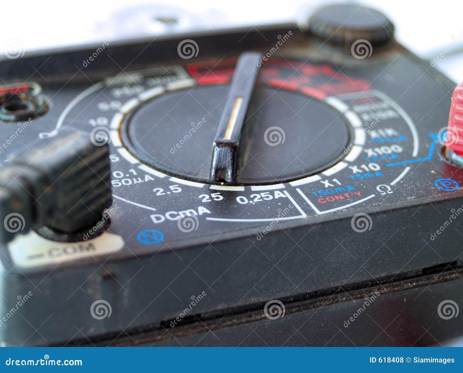 De Multimeter van de elektricien