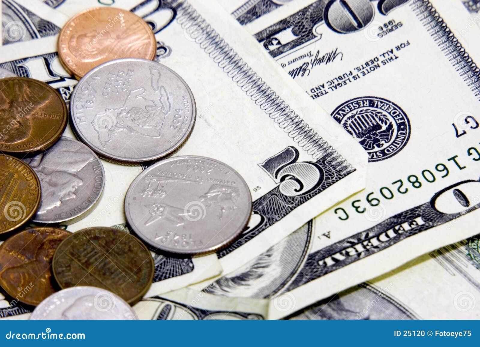 De Muntstukken van het contante geld n
