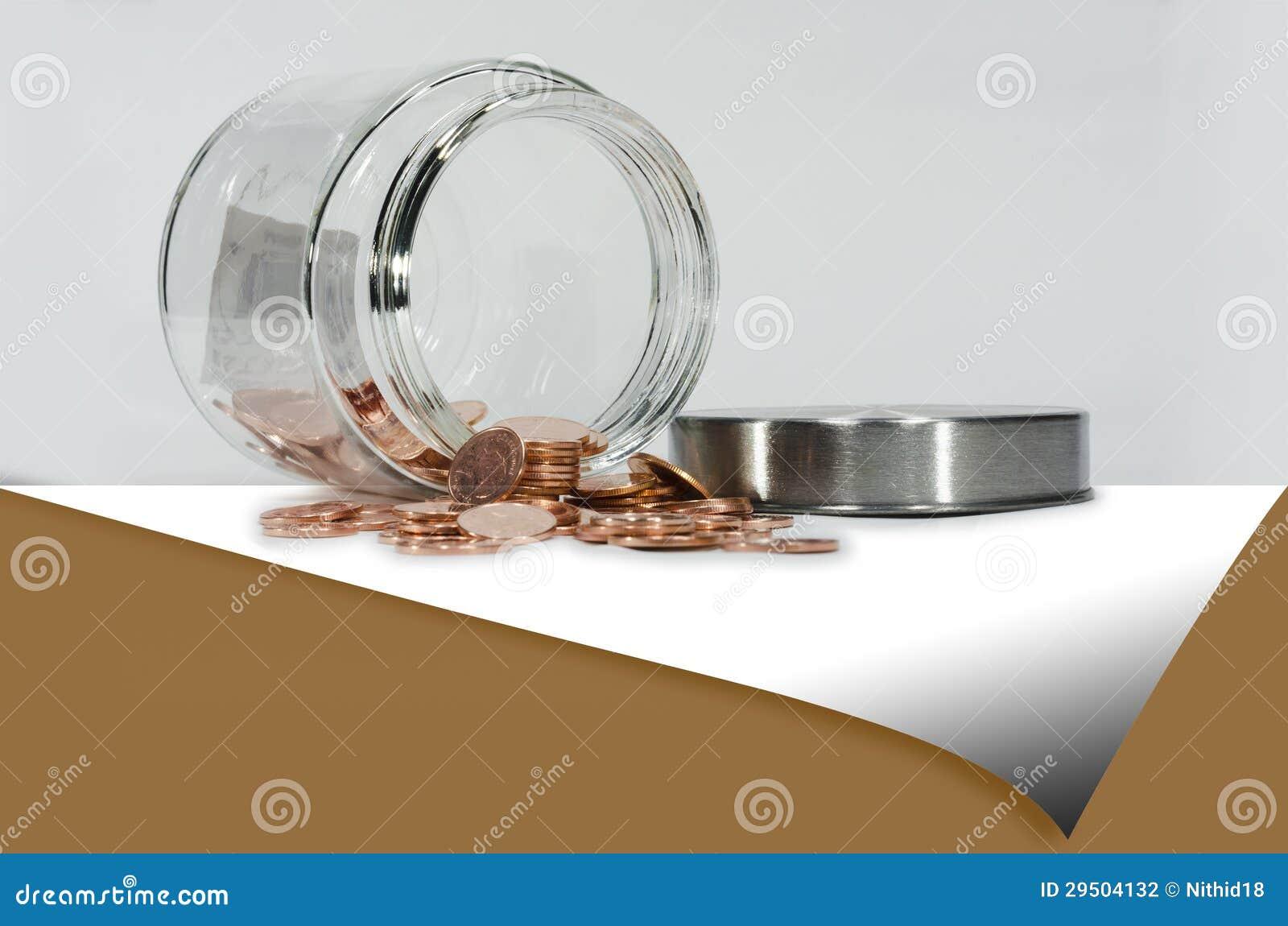 De muntstukken van het koper