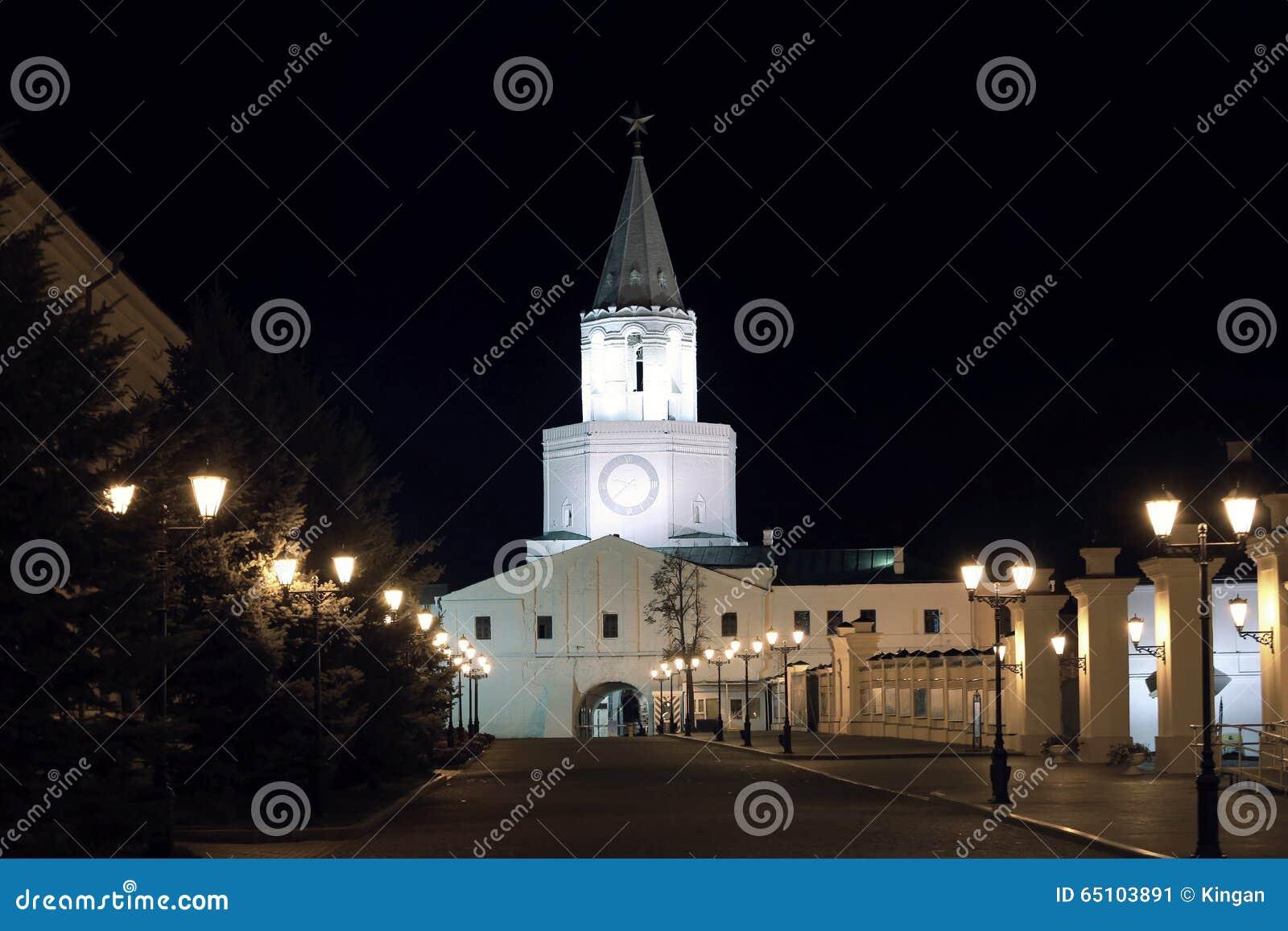 De muren van Kazan het Kremlin