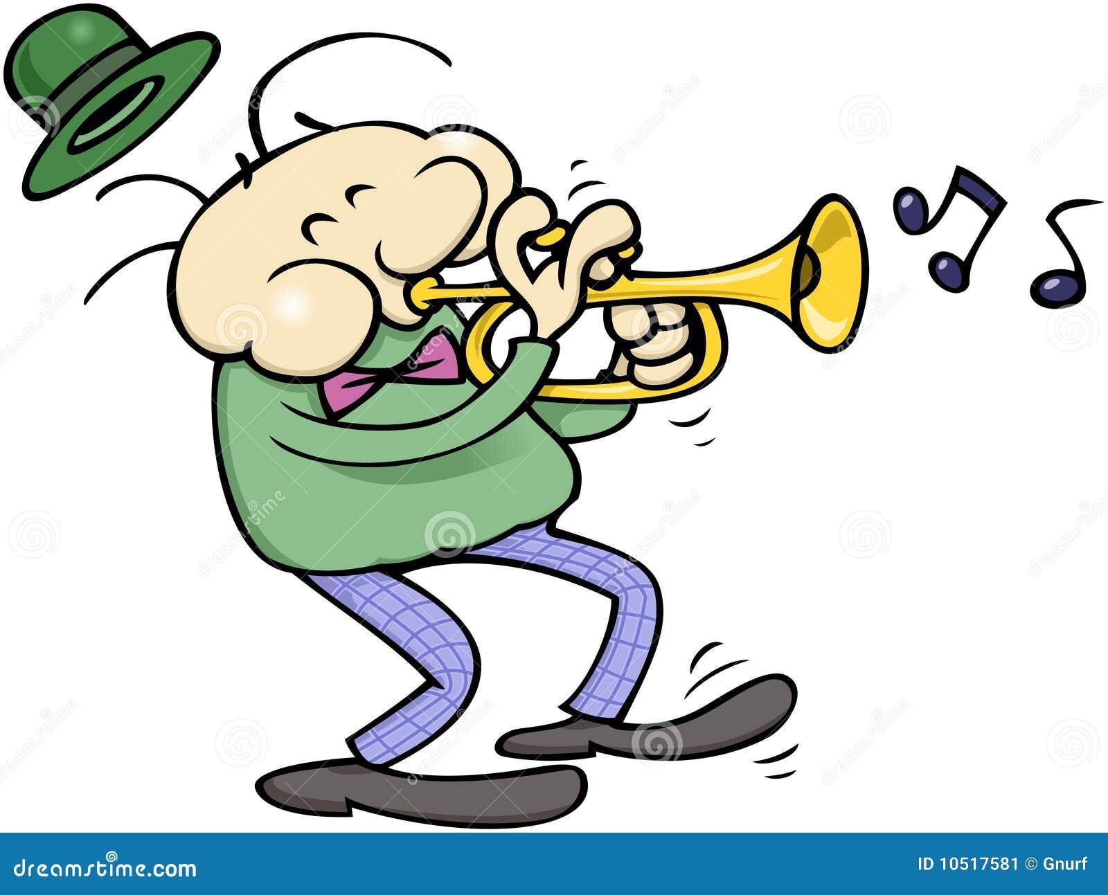 De musicus van de trompet