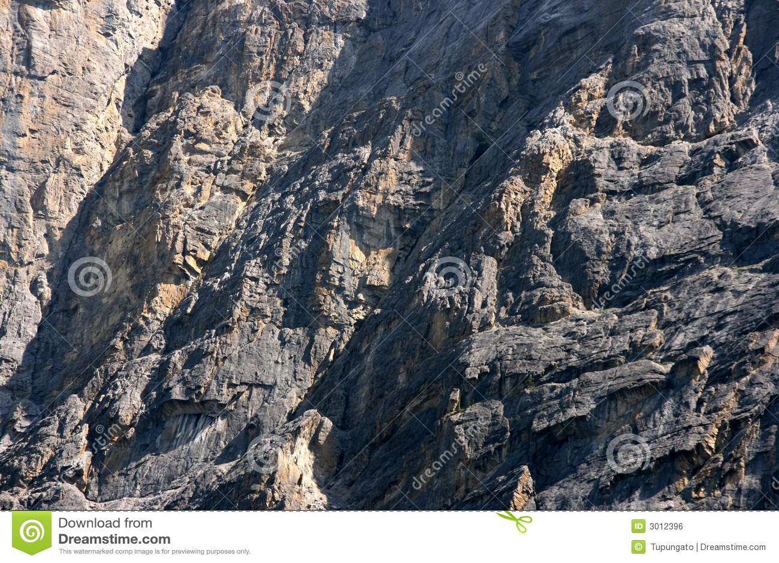 De muur van de berg