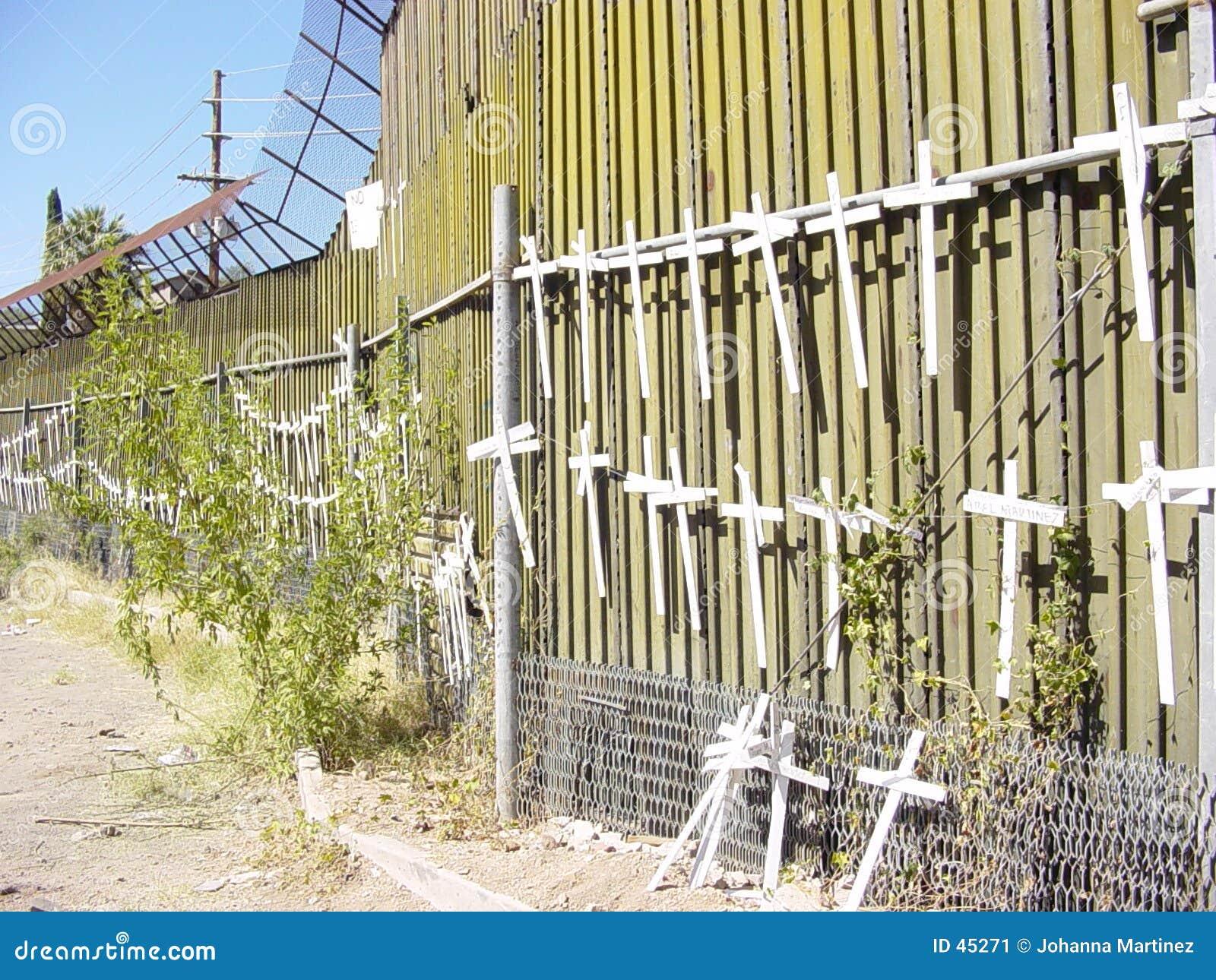 De Muur van de Grens ons-Mexico