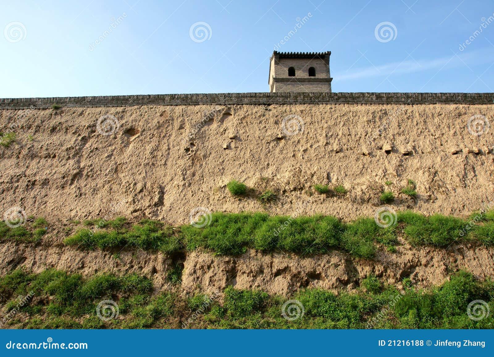De muur van de stad