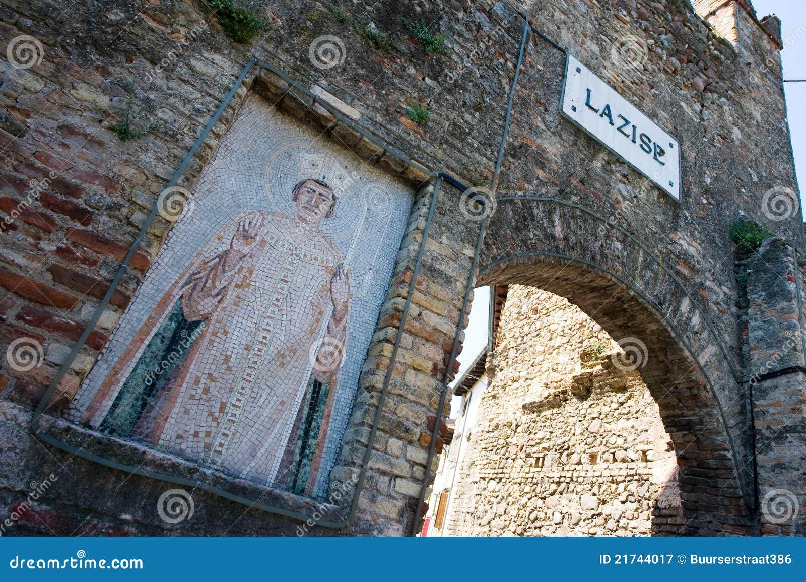 De muur van de stad van lazise stock afbeelding afbeelding 21744017 - Muur van de ingang ...