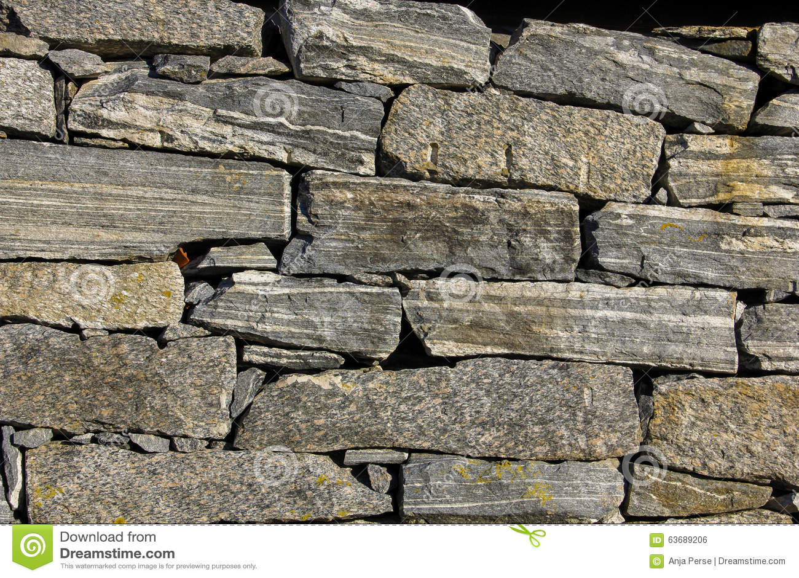 De muur van de steen stock foto afbeelding 63689206 - Muur steen duidelijk ...