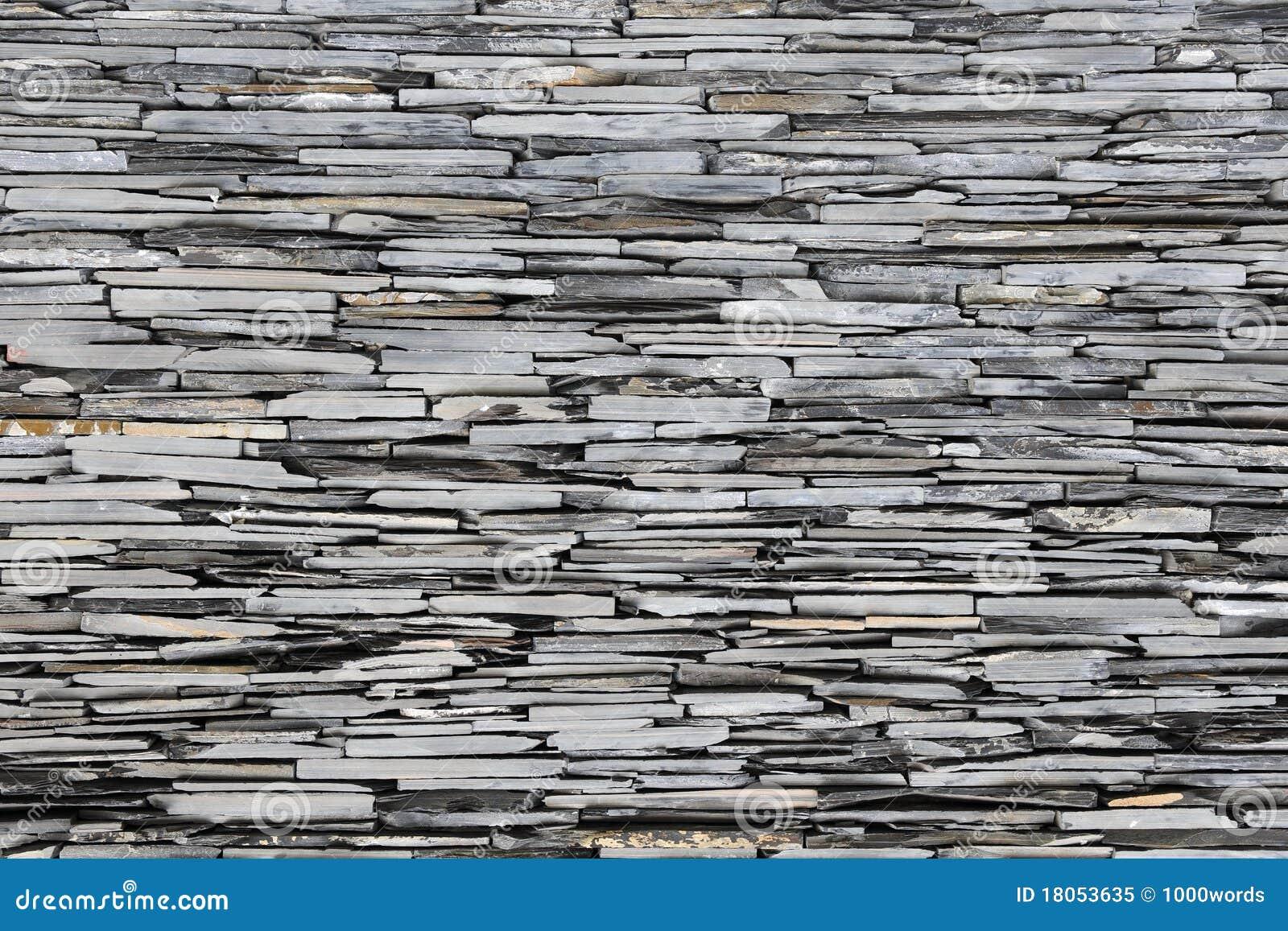 De muur van de steen van de lei royalty vrije stock foto beeld 18053635 - Muur steen duidelijk ...