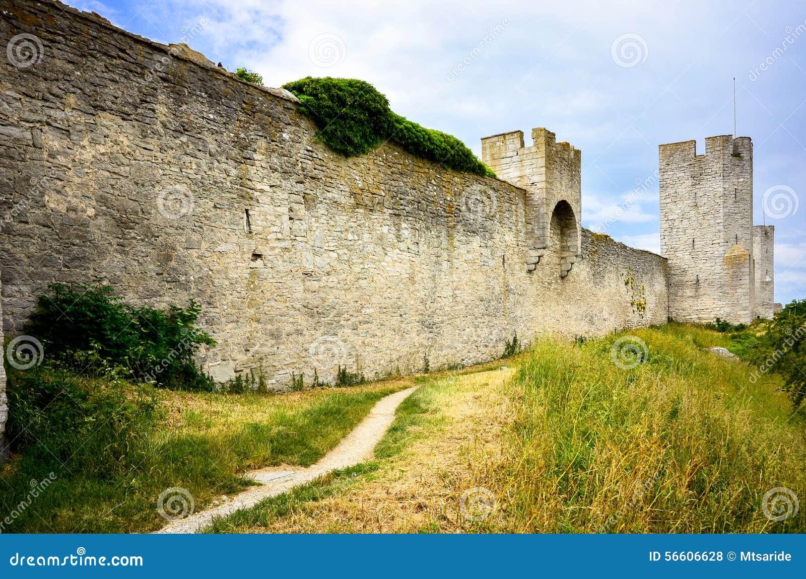 De muur van de Visbystad