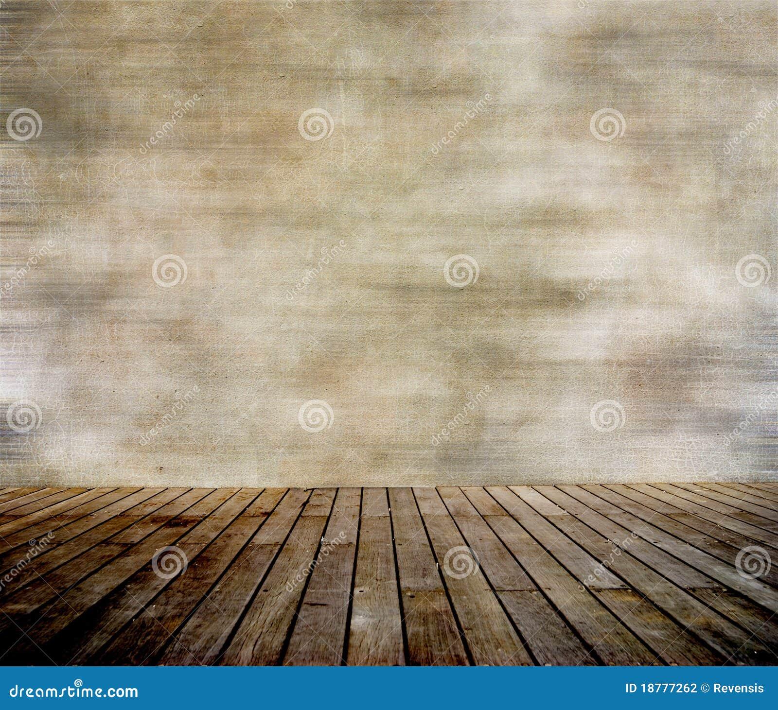 De Muur Van Grunge En Hout Met Panelen Beklede Vloer Stock Fotografie   Afbeelding  18777262