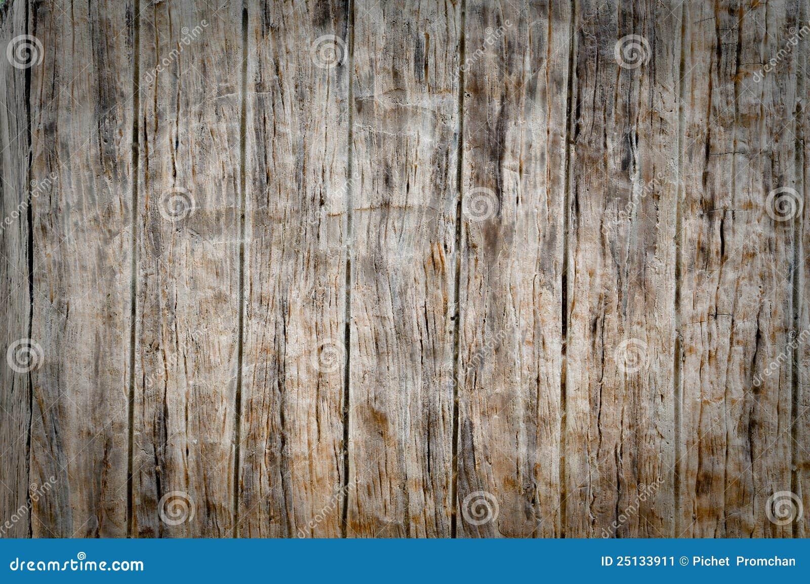 De Muur Van Het Cement Imiteert Hout Stock Afbeelding - Afbeelding ...