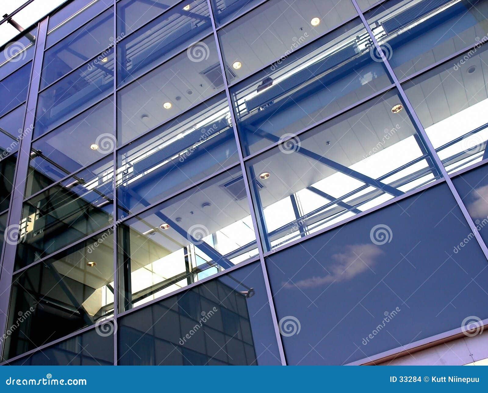 De muur van het glas
