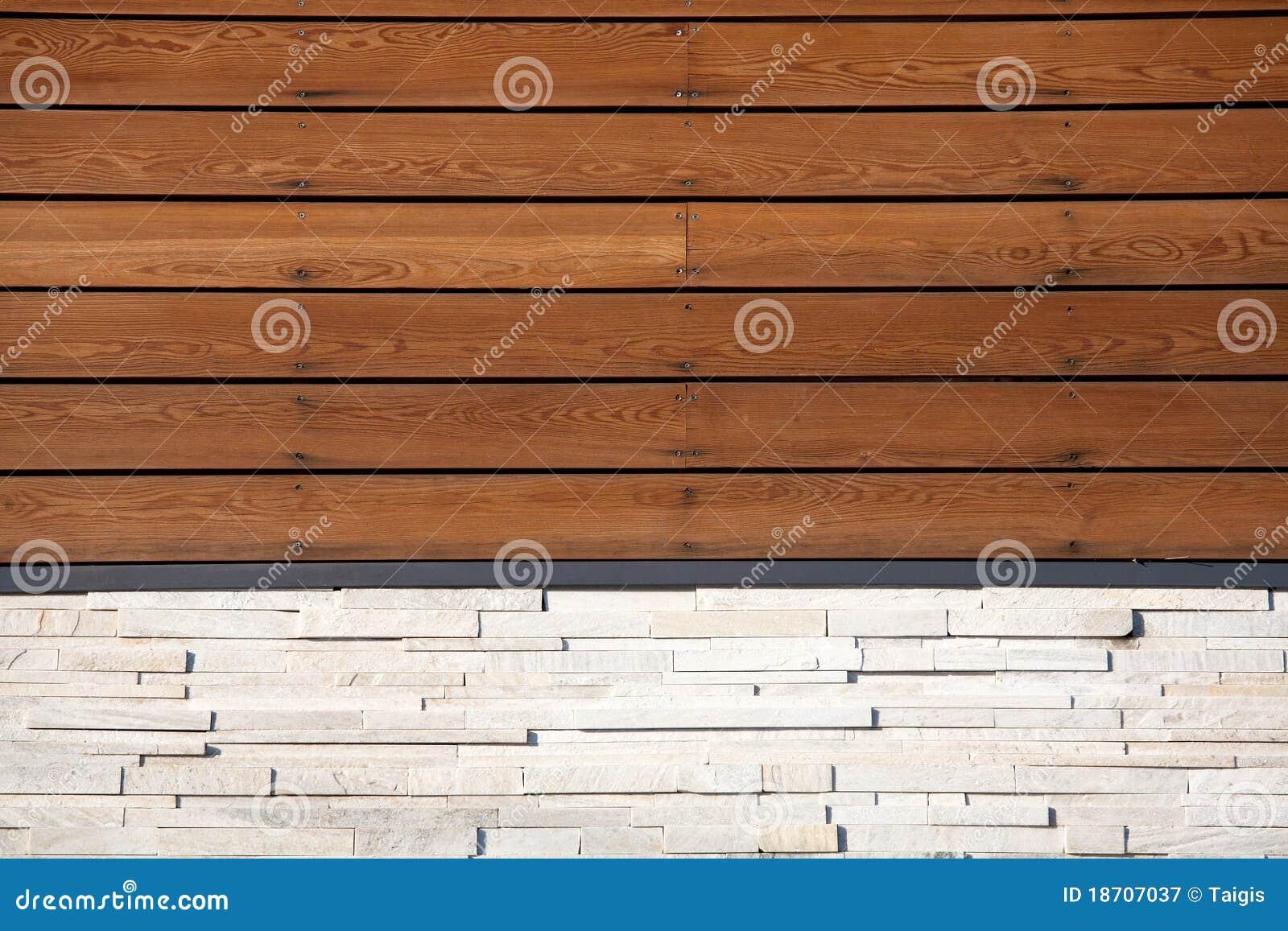 De muur van het hout en van de steen royalty vrije stock ...