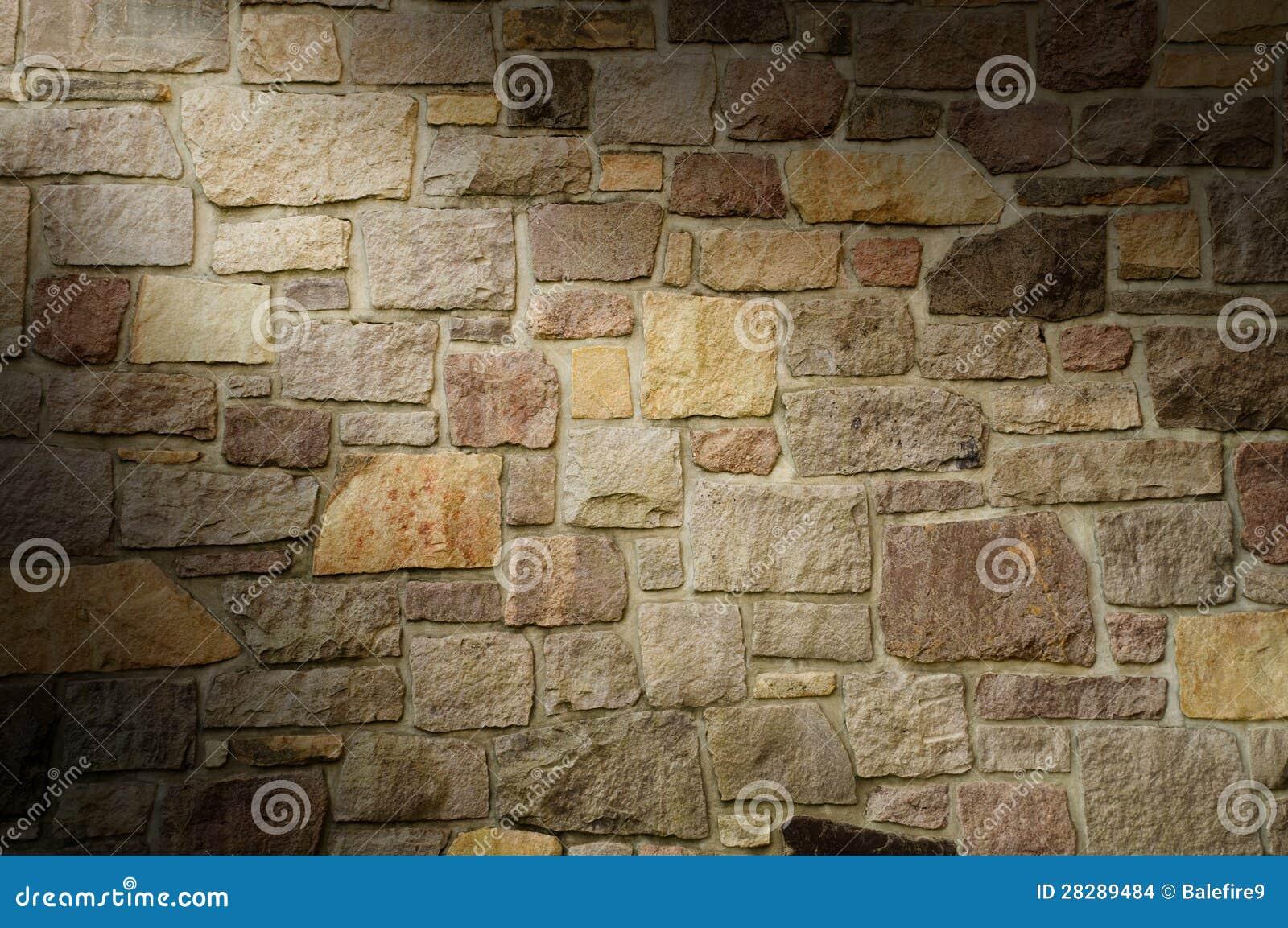 De muur van het metselwerk van multicolored lit van de steen diagonaal stock afbeeldingen - Muur steen duidelijk ...
