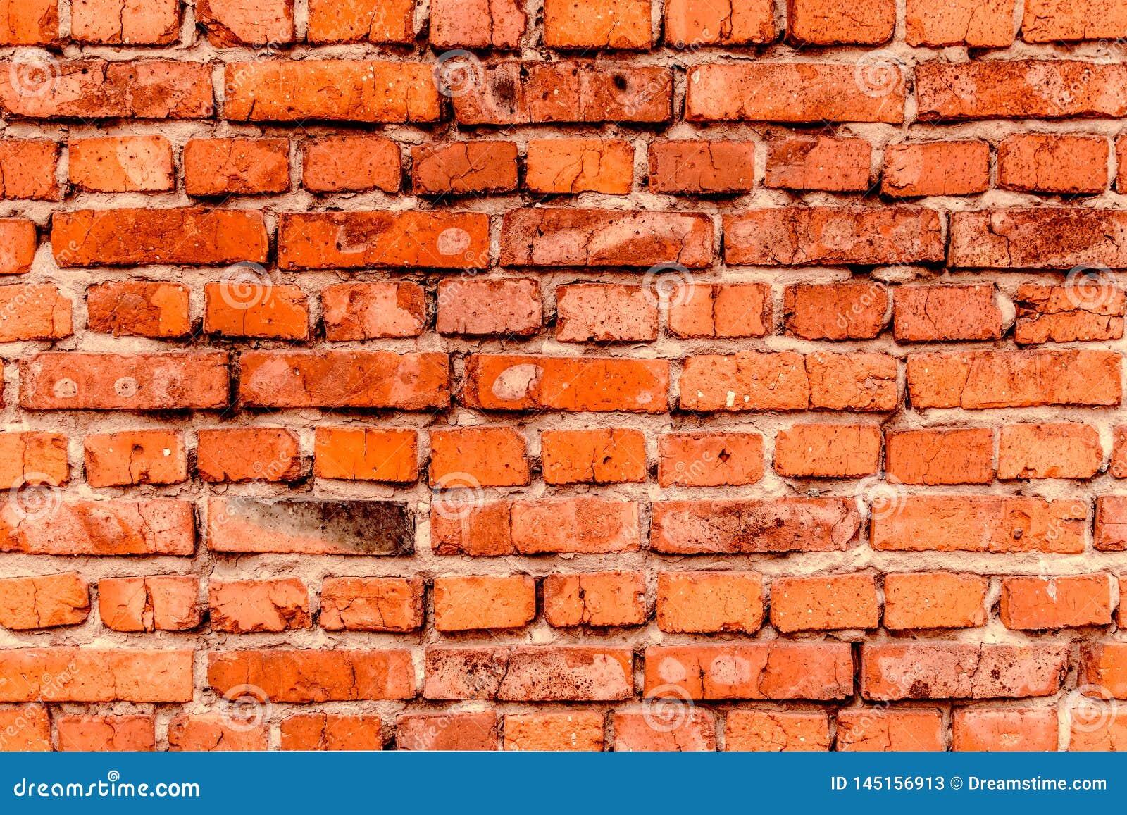 De muur van oude rode baksteen, grunge stijl achtergrondtextuur, kan voor ontwerp gebruiken