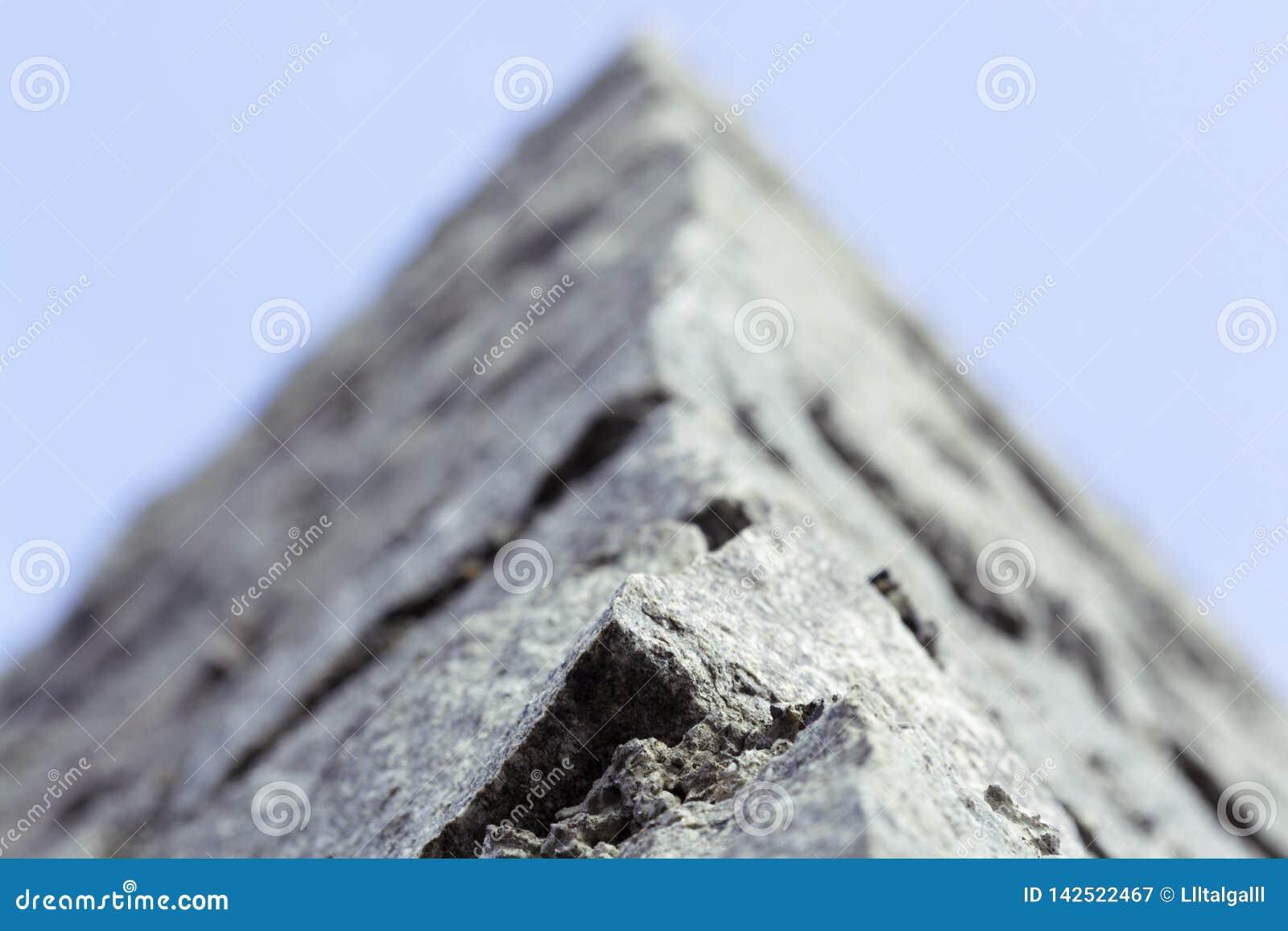 De muur van de steen Het macro ontspruiten