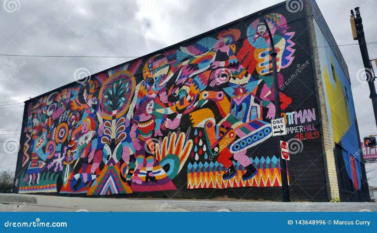 De Muurschildering van Atlanta Summerhill