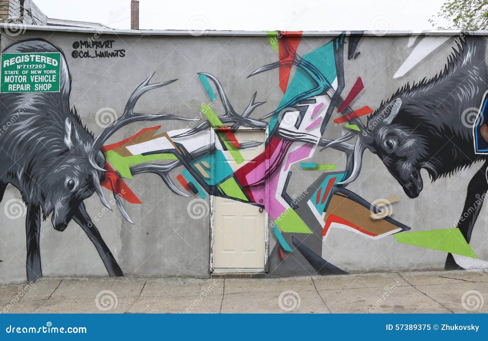 De muurschilderingkunst bij centrum-fuge-centreert Project in Staten Island, NY