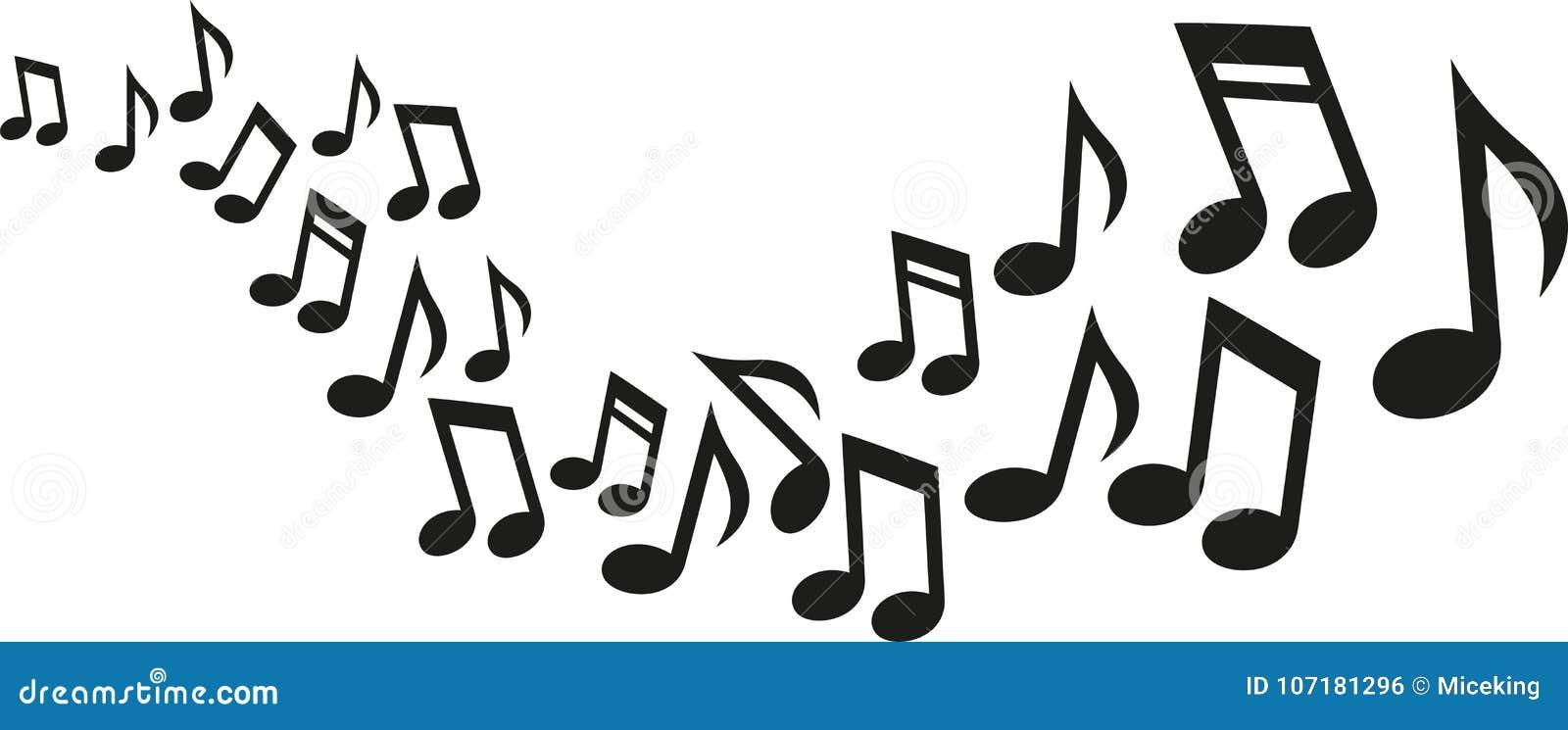 De muziek neemt nota van golf