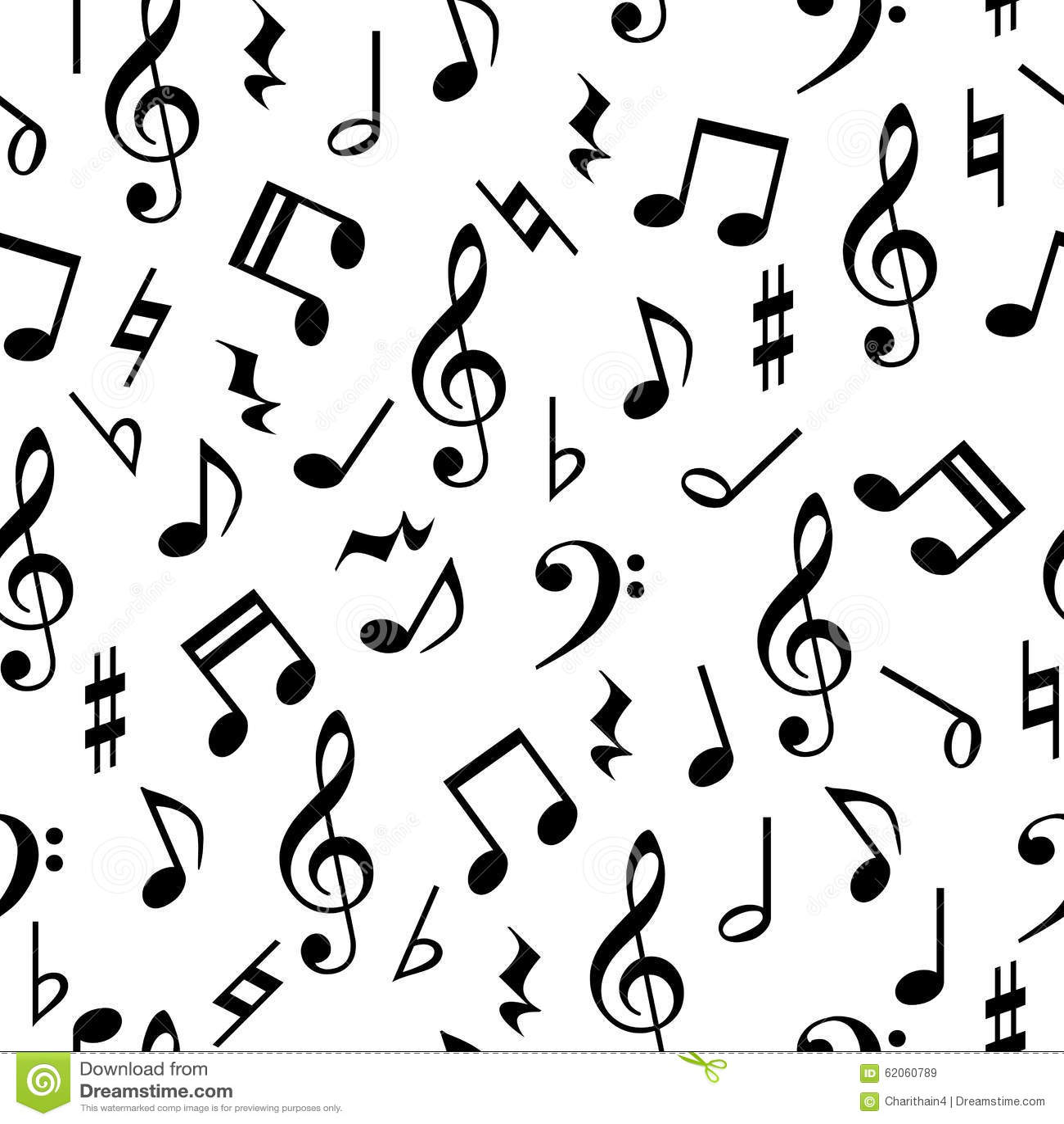 De muziek neemt nota van Naadloos Patroon