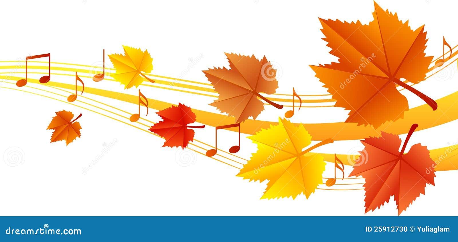 De muziek van de herfst
