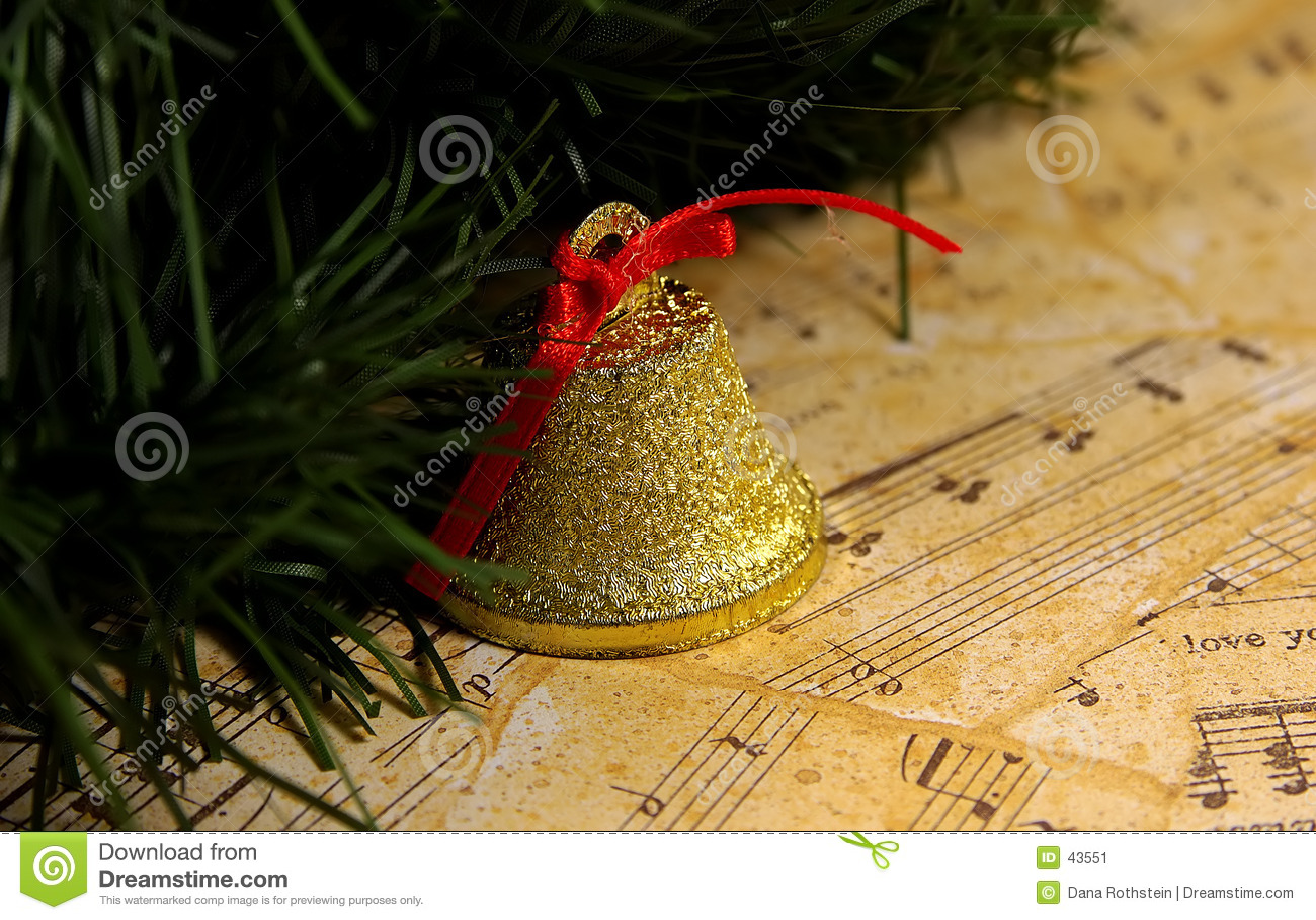 Download De Muziek van Kerstmis stock afbeelding. Afbeelding bestaande uit nota - 43551