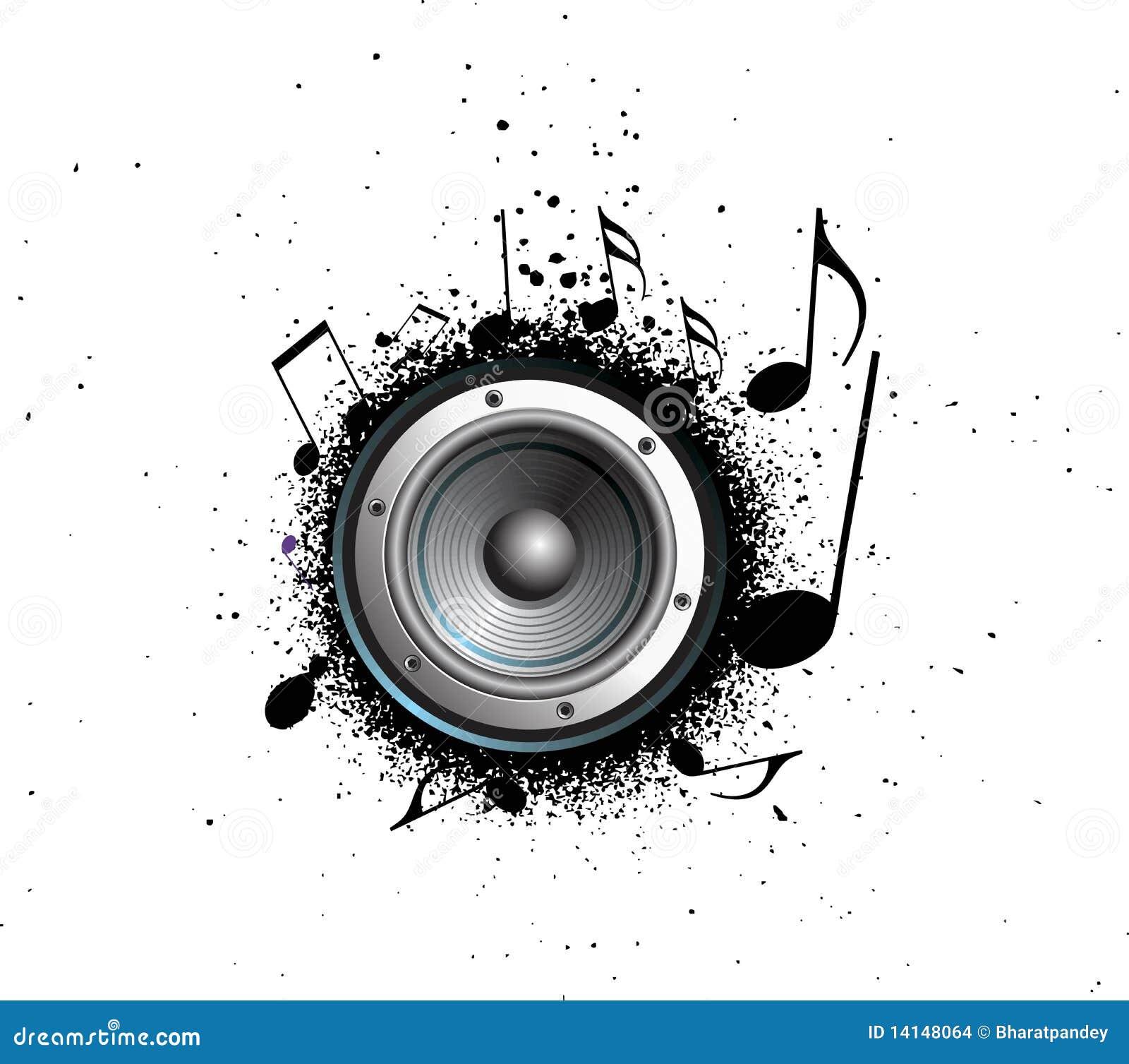 De muzieknota s van de Spreker van de Partij van Grunge