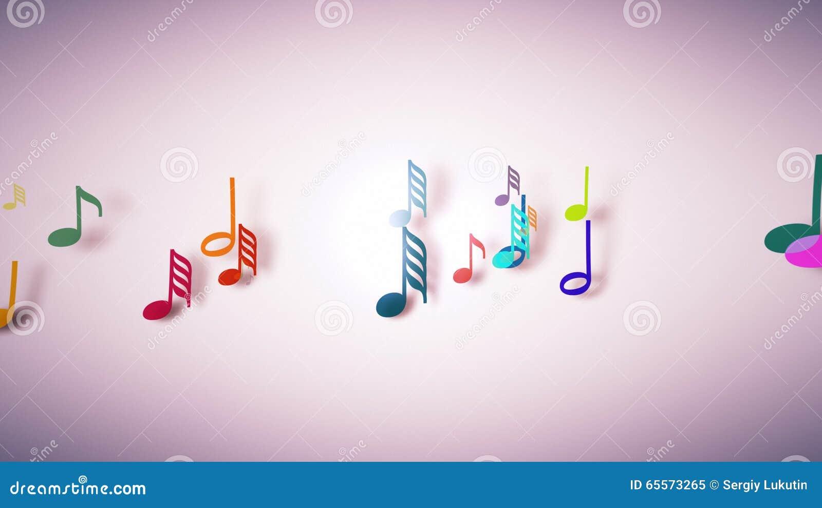 De muzieknoten met diepte van gebied