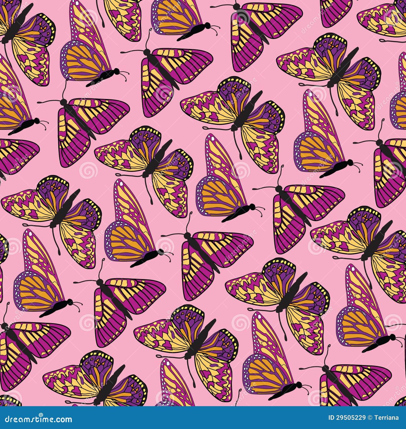 De naadloze achtergrond van de vlinder