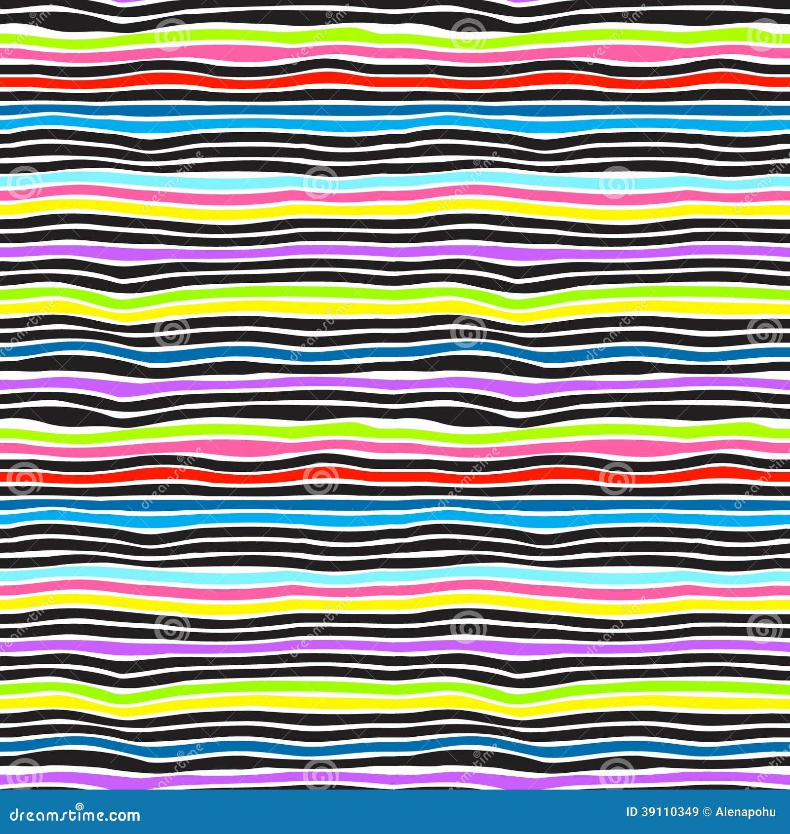 De naadloze achtergrond van kleurenstrepen