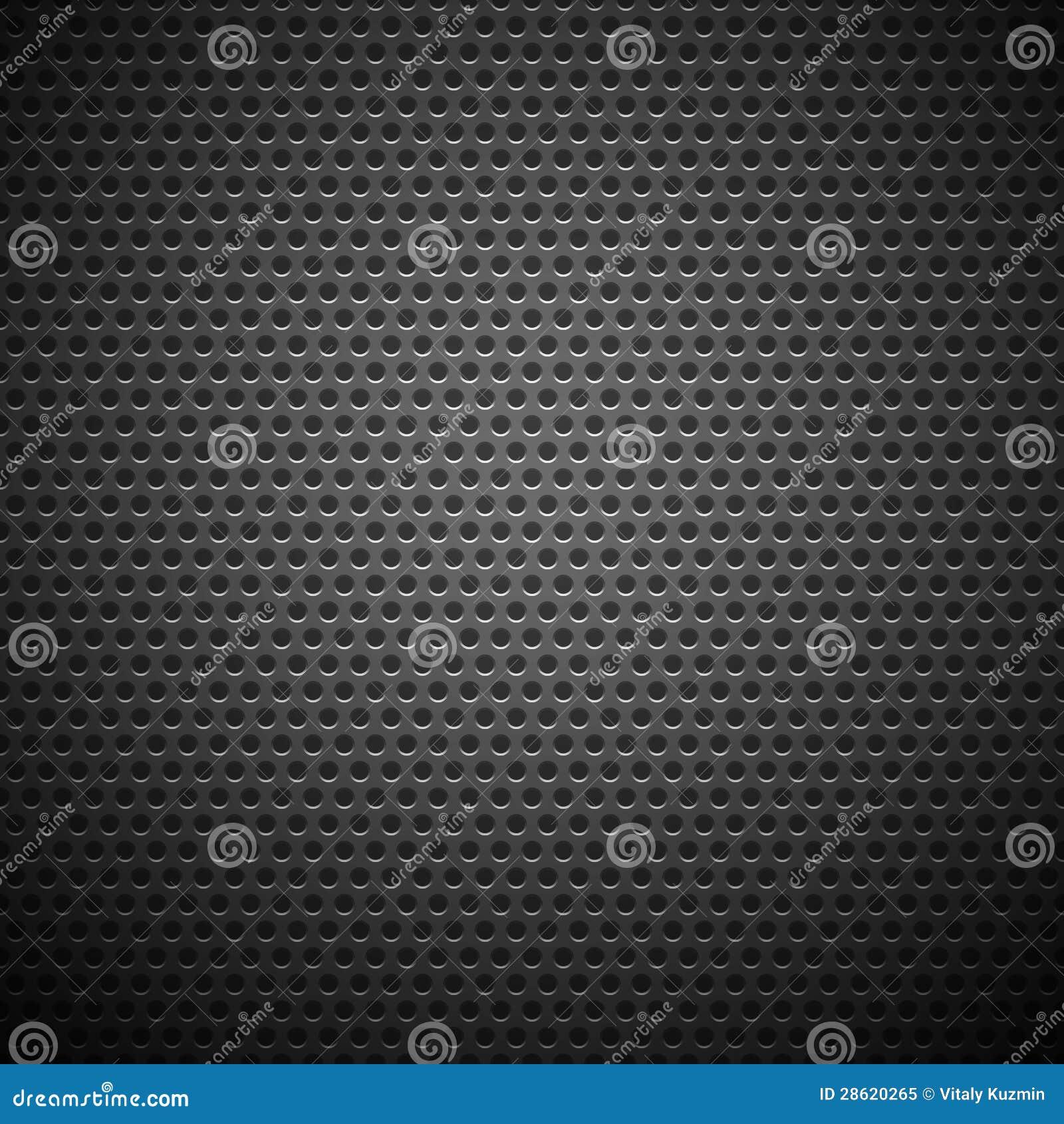 De naadloze Cirkel Geperforeerde Textuur van de Grill van de Koolstof