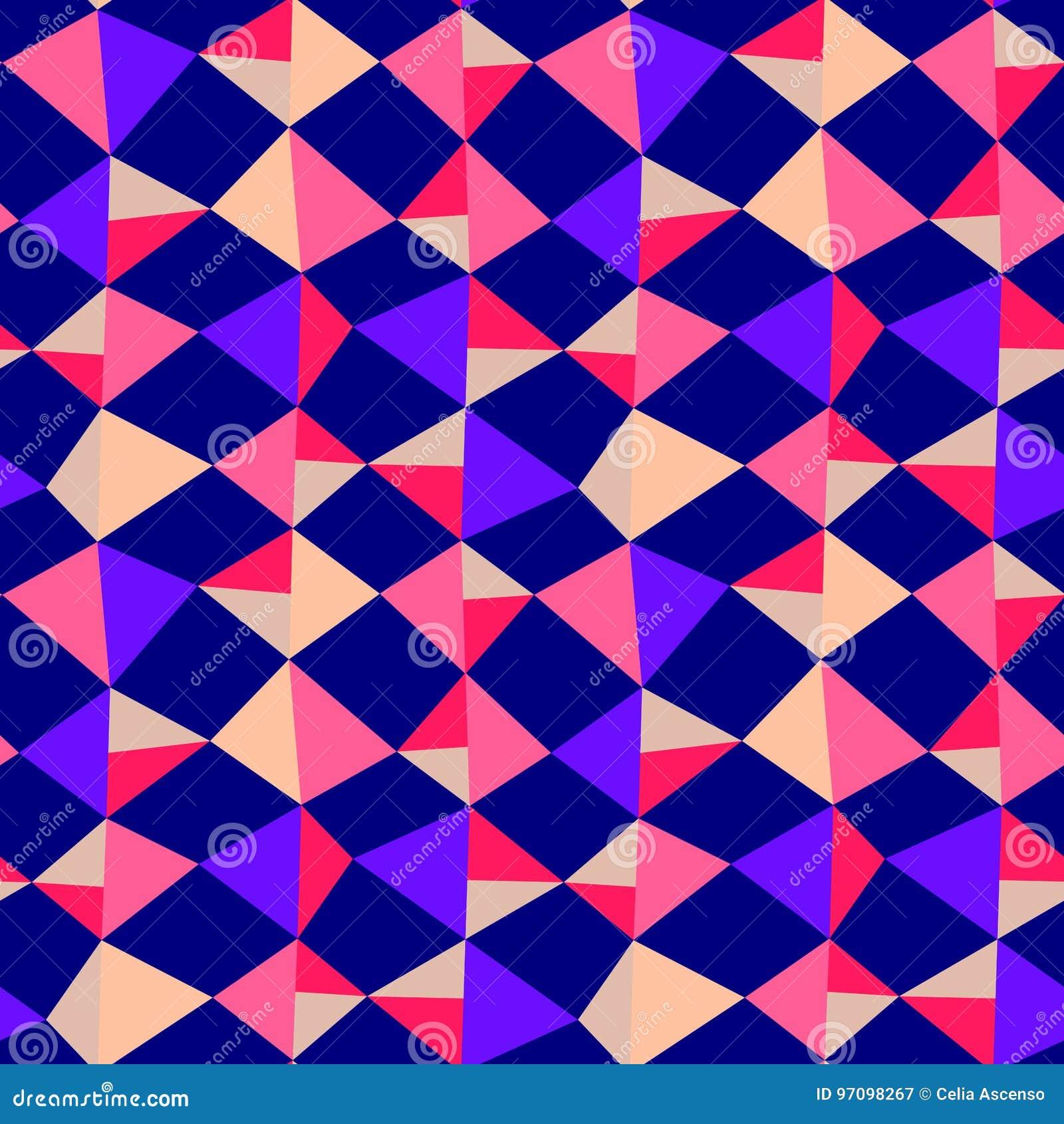 De naadloze Geometrische Achtergrond van Driehoeksvliegers