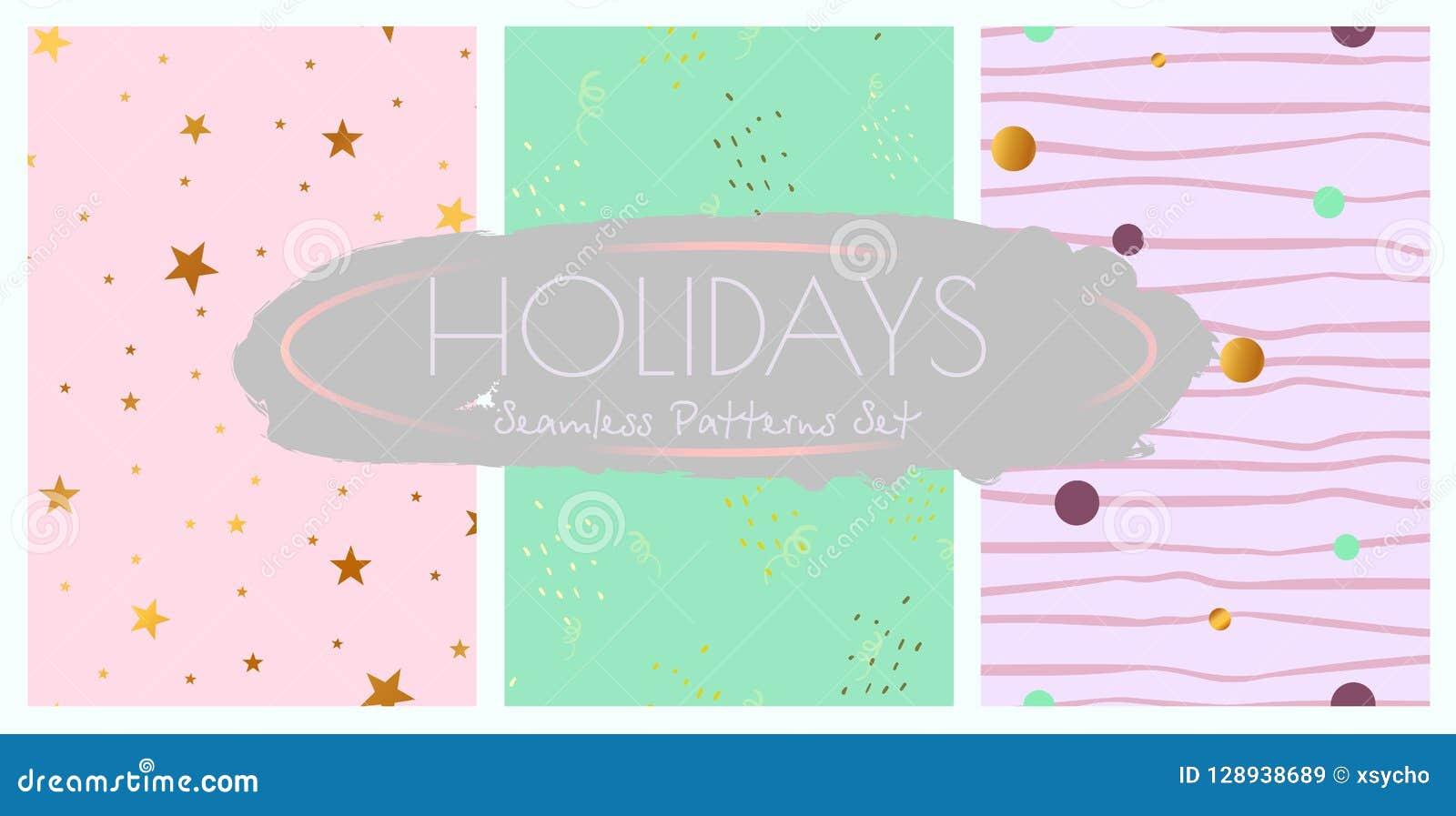 De naadloze geplaatste patronen van vakantiedecoratie