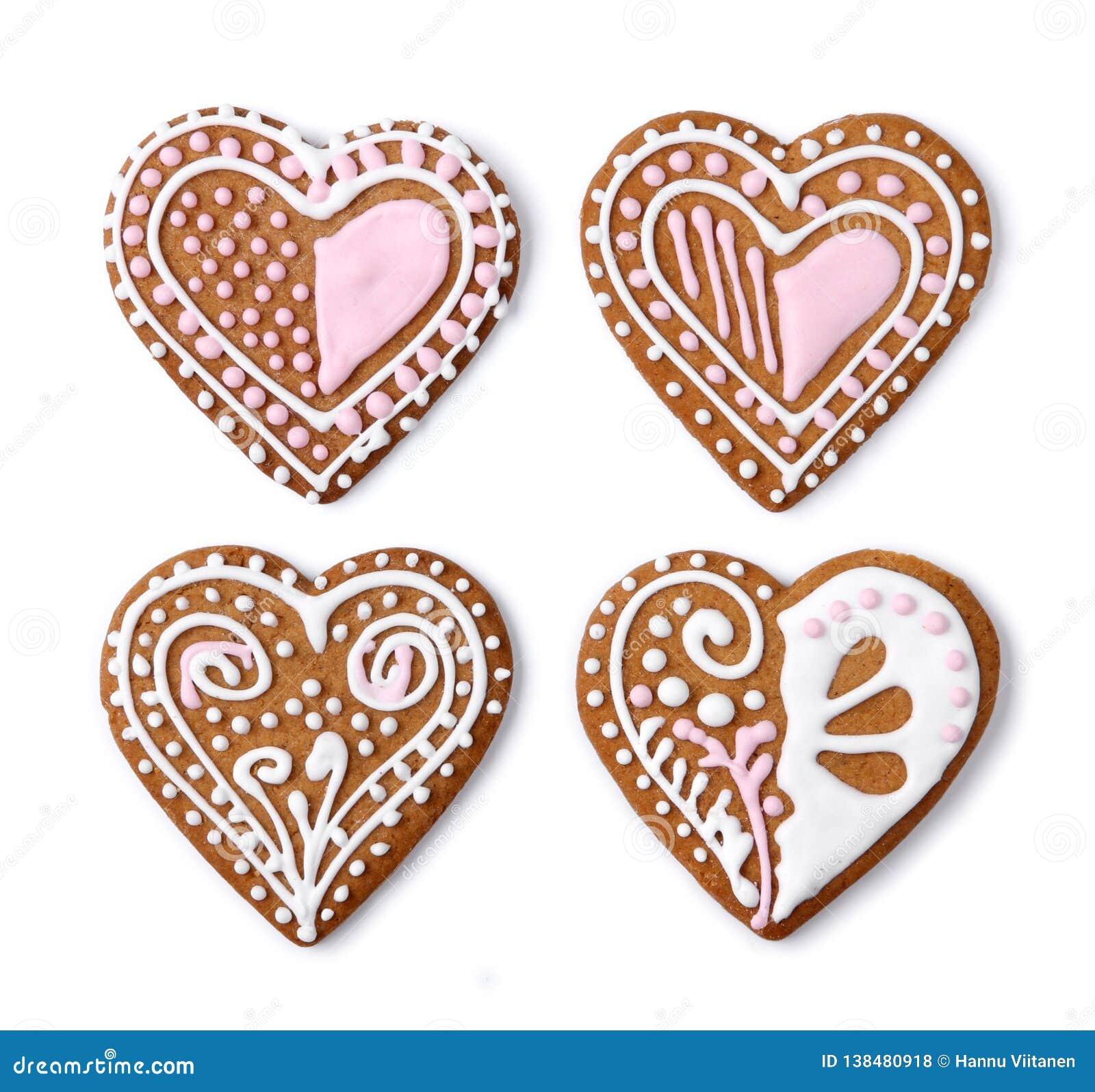 De naar huis gemaakte koekjes van het peperkoekhart