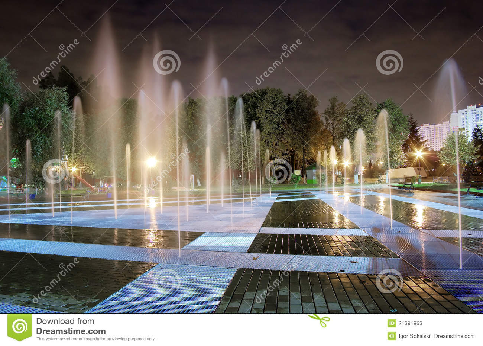 De nacht van de fontein