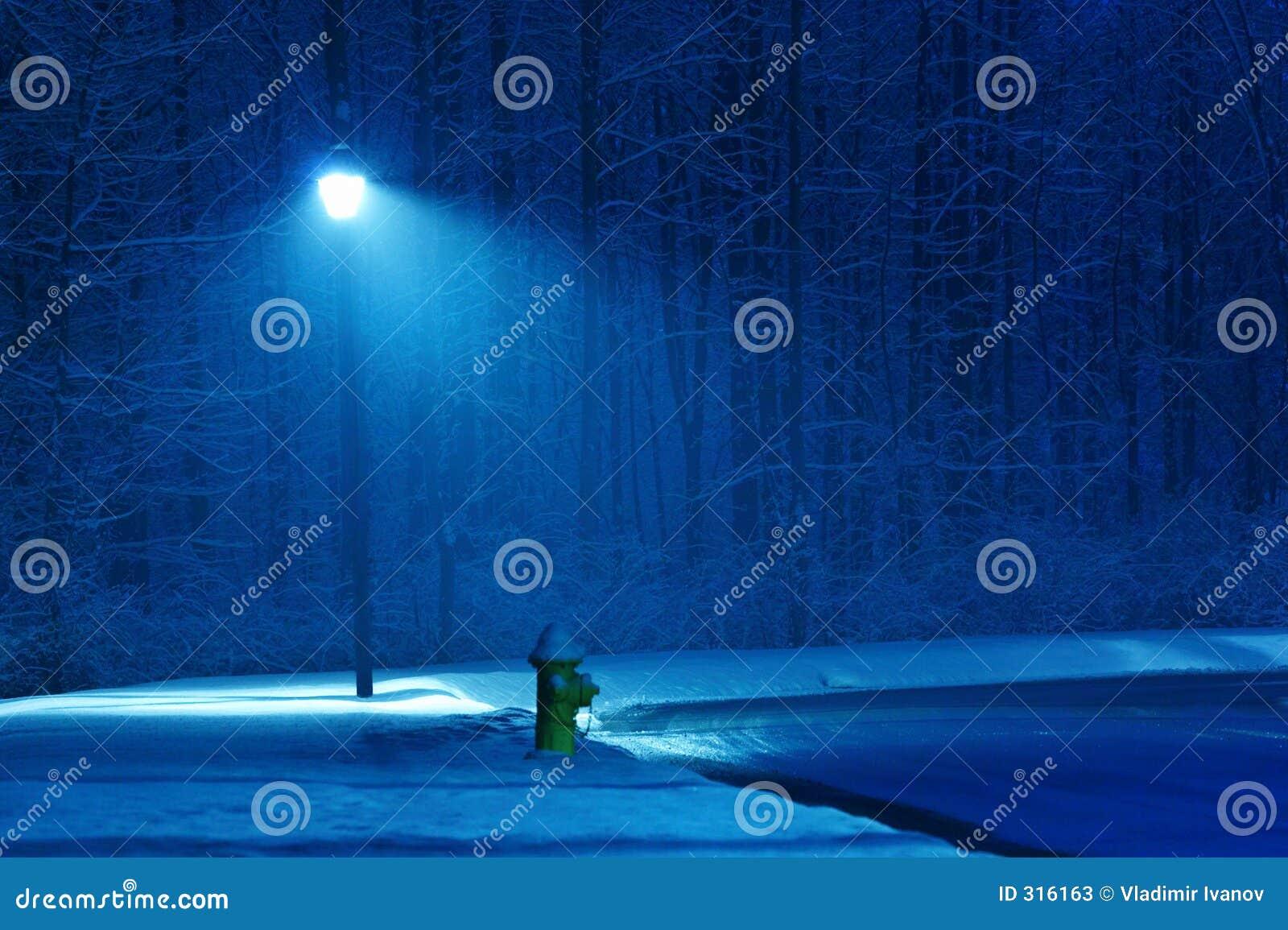 De nacht van de winter